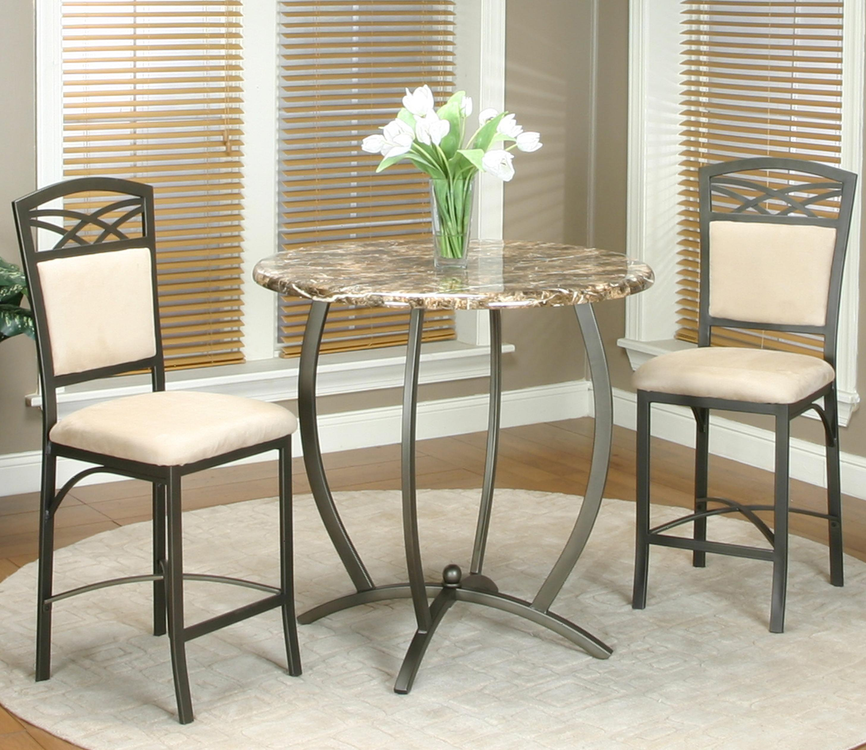Cramco inc atlas 3 piece counter table and stool set for Table 52 gaborone menu