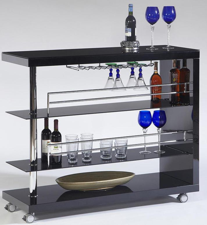 Cramco Inc Bolero Contemporary Bar Cart W Stem Glass Value City Furniture Bars