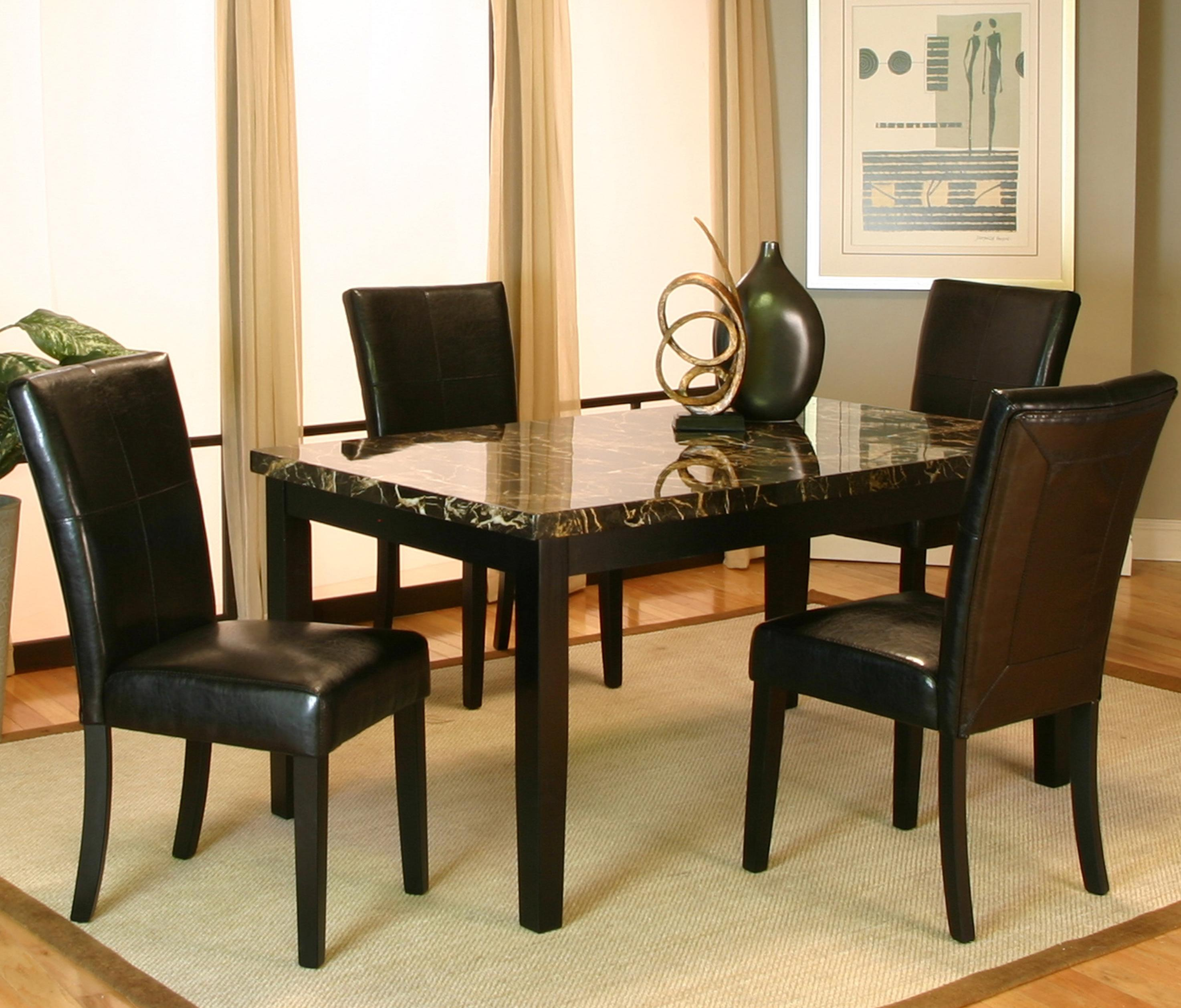 Cramco Inc Chatham 5 Piece Dining Leg Table and Side