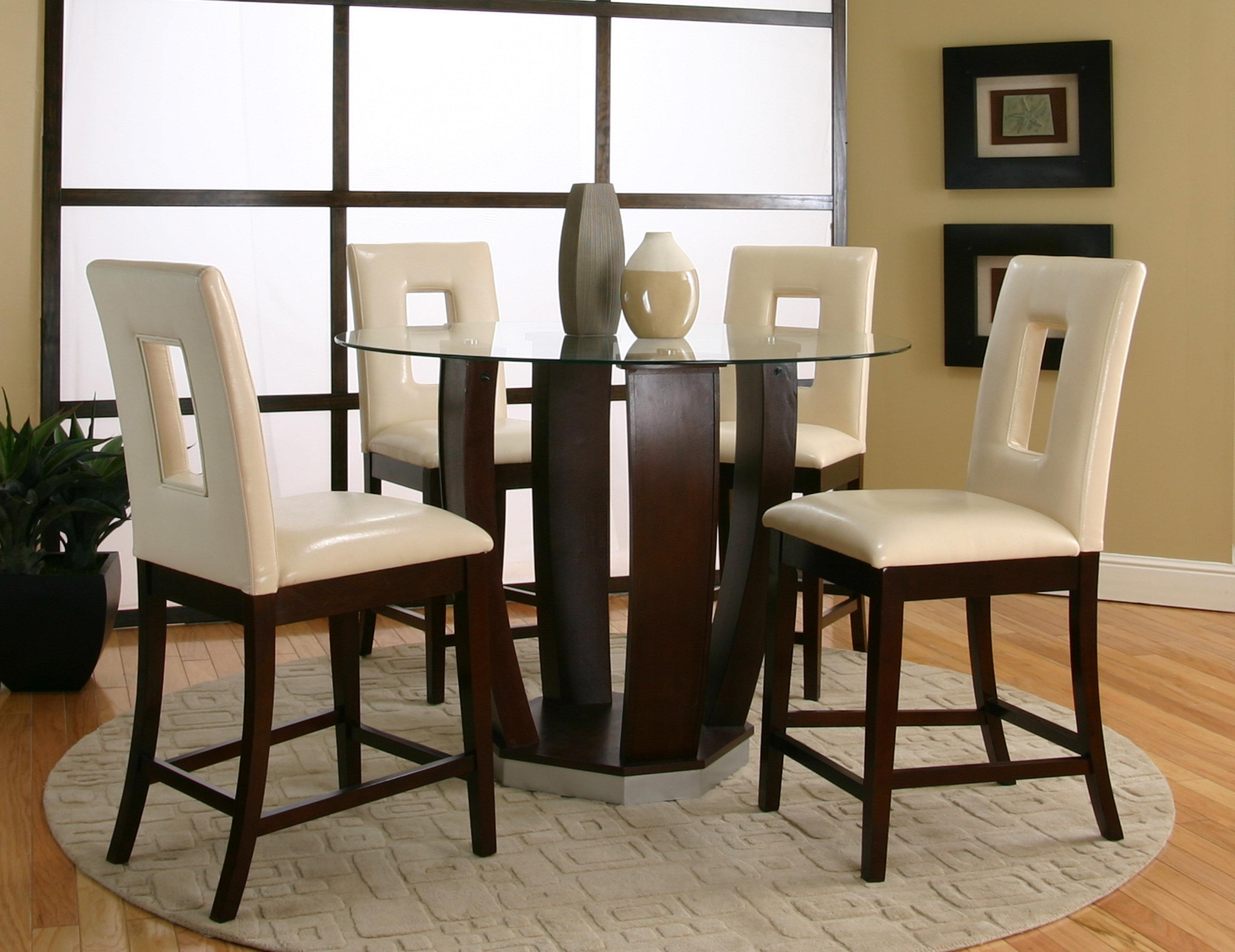 Cramco inc contemporary design emerson round tempered for High top table designs