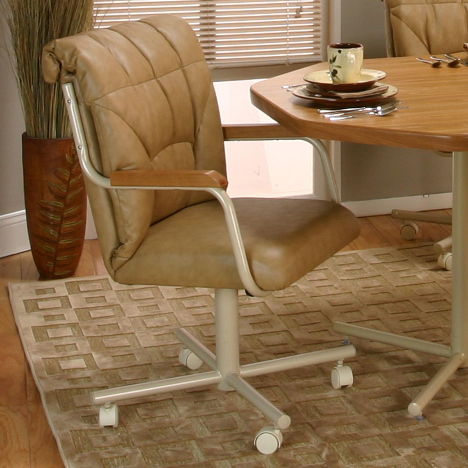 Tilt Swivel Dining Chair With Casters