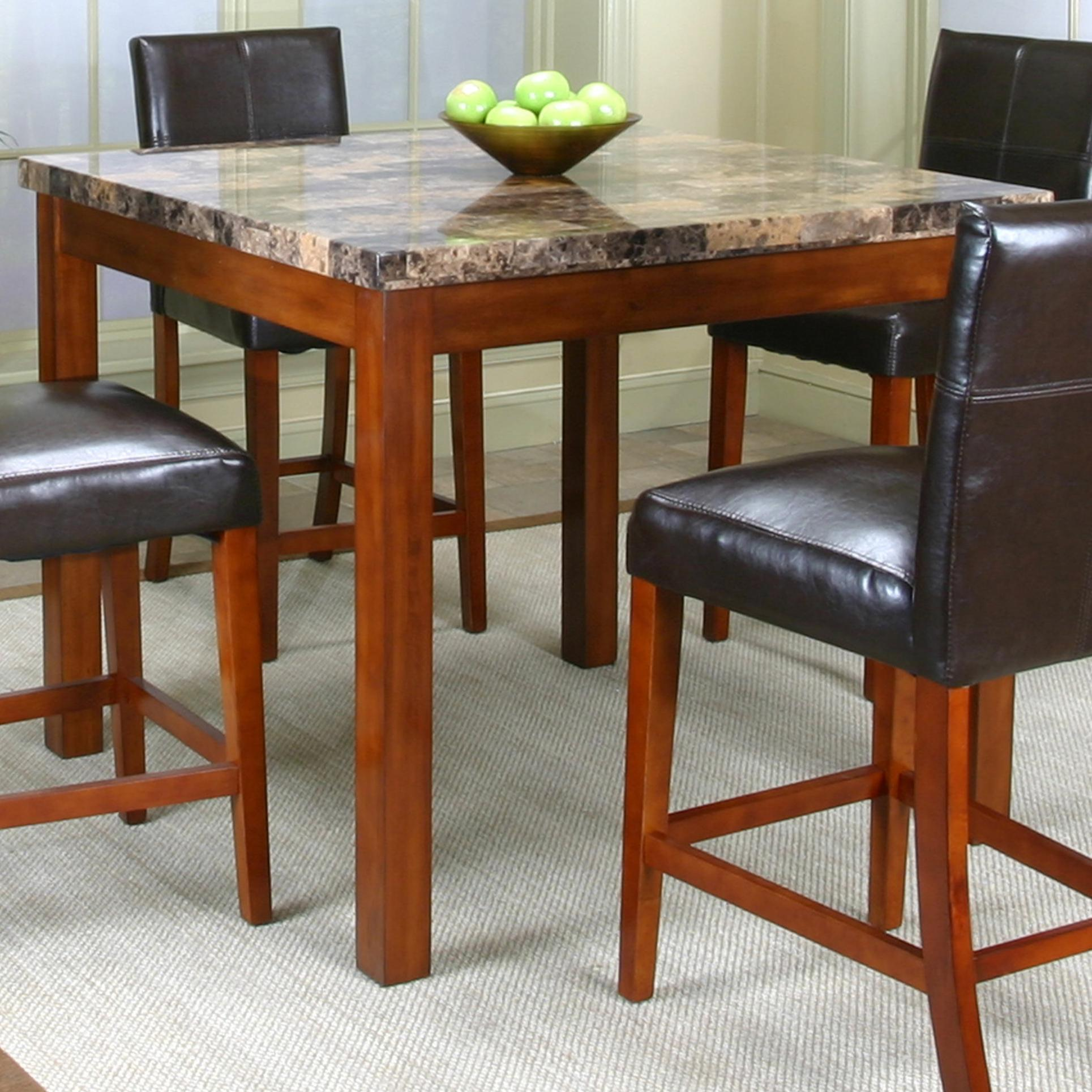 cramco inc cramco trading company mayfair pub table w faux marble top value city furniture. Black Bedroom Furniture Sets. Home Design Ideas