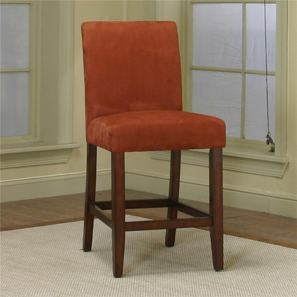 Counter height dining chair with brick micro suede fabric for Chair height design