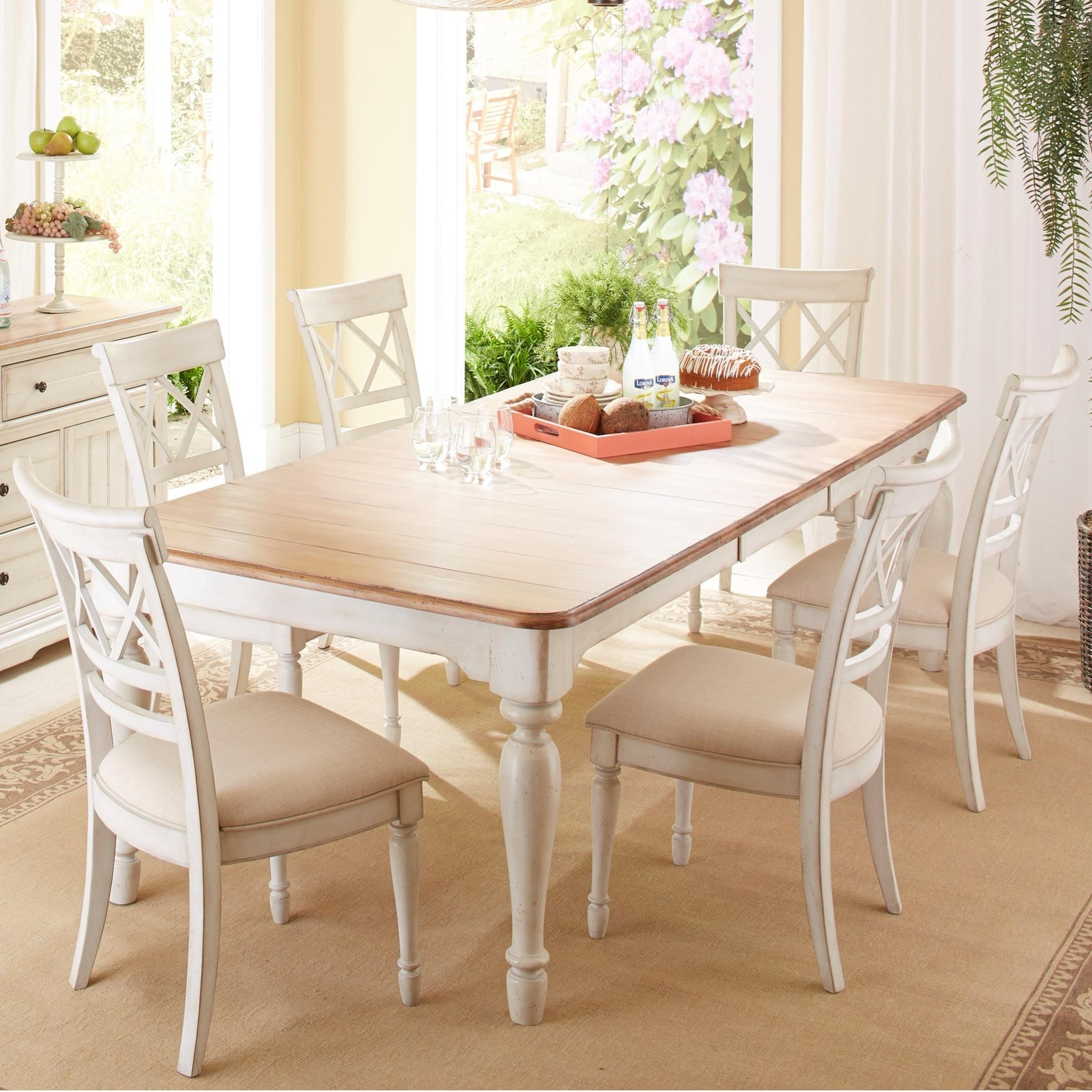 Cresent Fine Furniture Cottage 7 Piece Table With Self