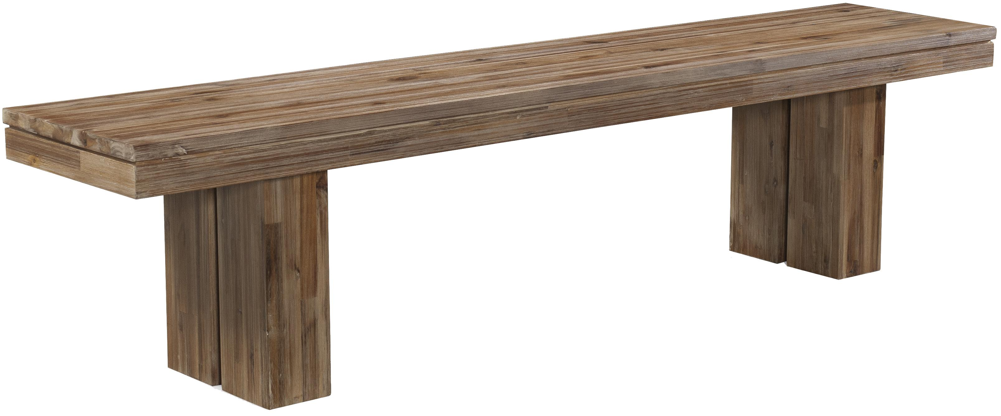 Waverly Acacia Wood Modern Rustic Dining Bench With