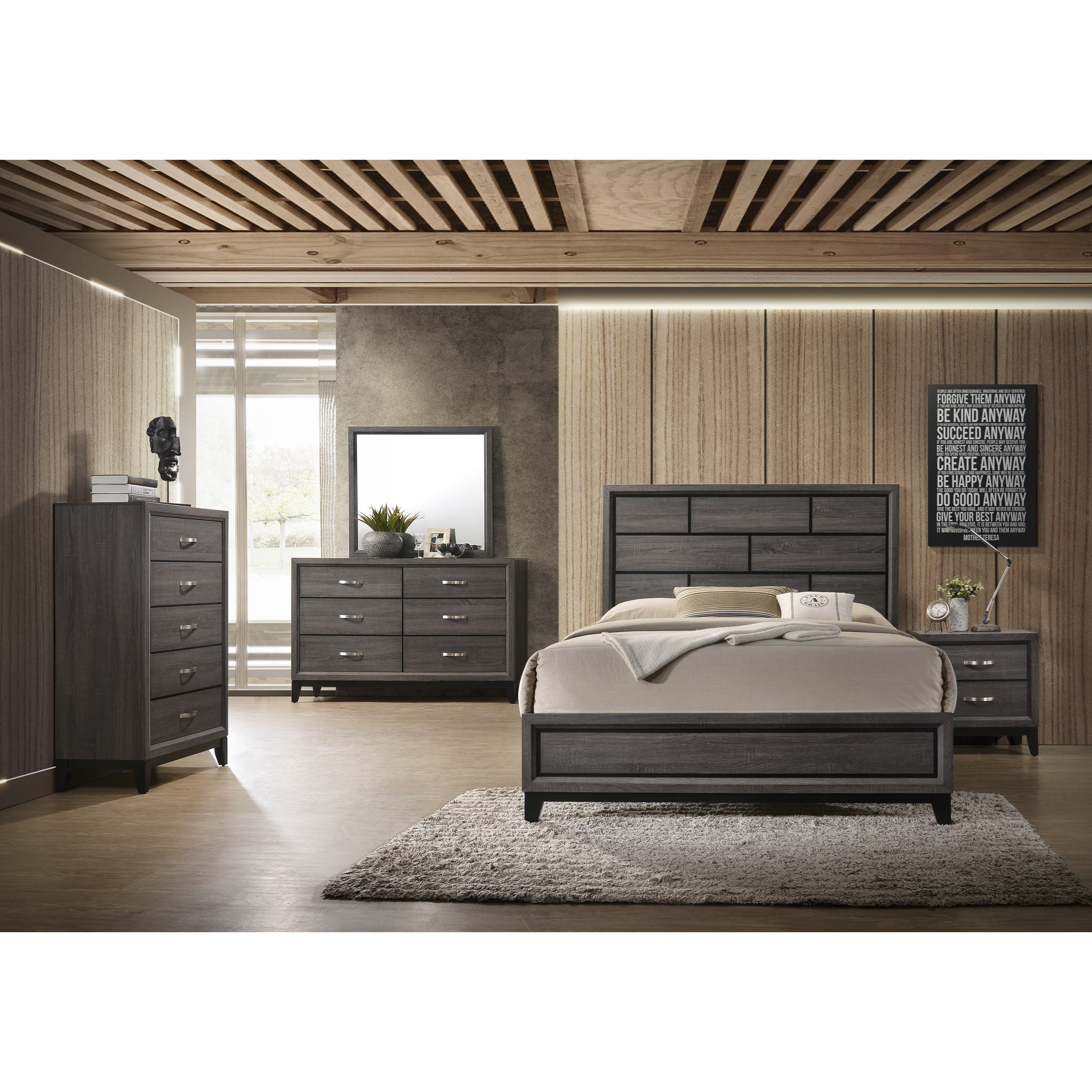 Akerson California King Bedroom Group by Crown Mark at Northeast Factory Direct