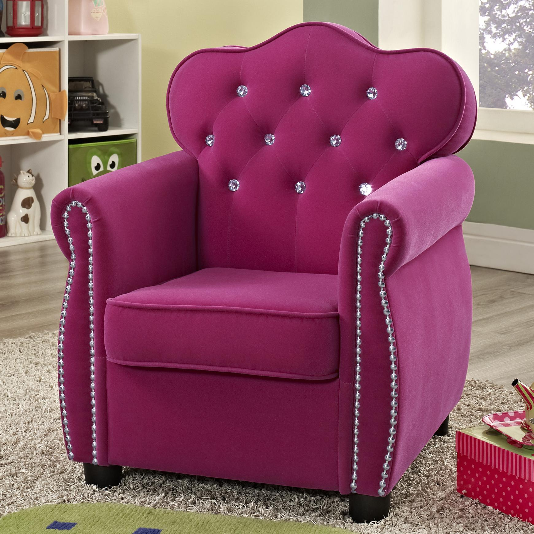 Crown Mark Amelia 7009 Contemporary Pink Kids Chair with
