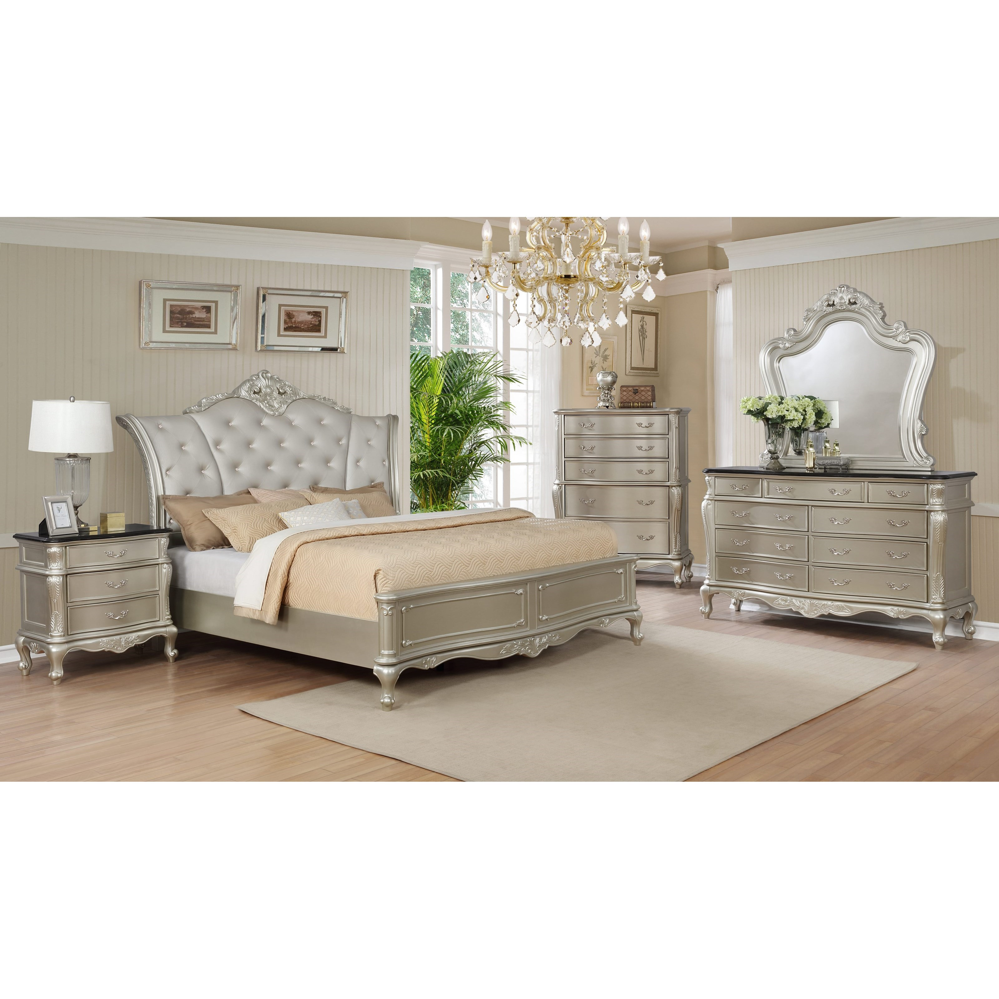 Crown mark angelina king bedroom group colder 39 s furniture and appliance bedroom groups for Angelina bedroom furniture set