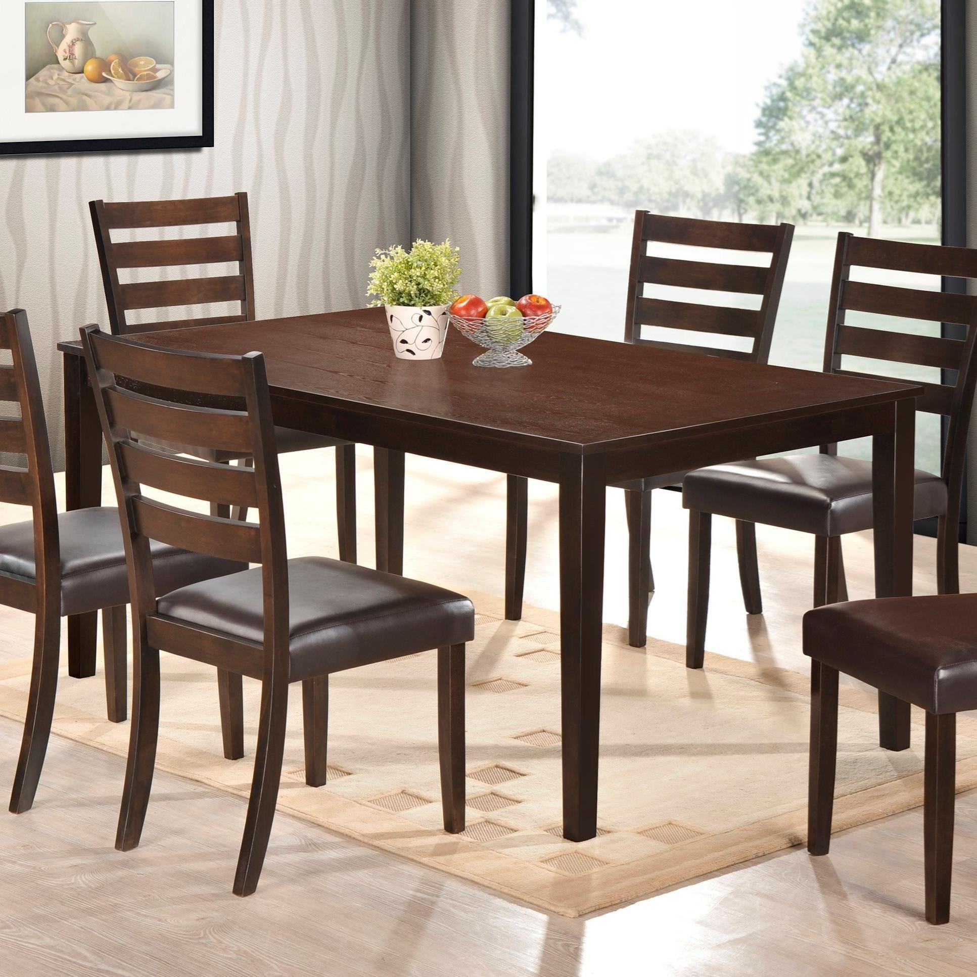 Crown mark aubery dining 2340t 3864 dining table in rich for Dining table finish