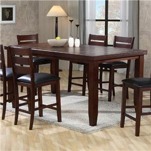 Crown Mark Bardstown 2752 6pc Bench Pub Table Set With