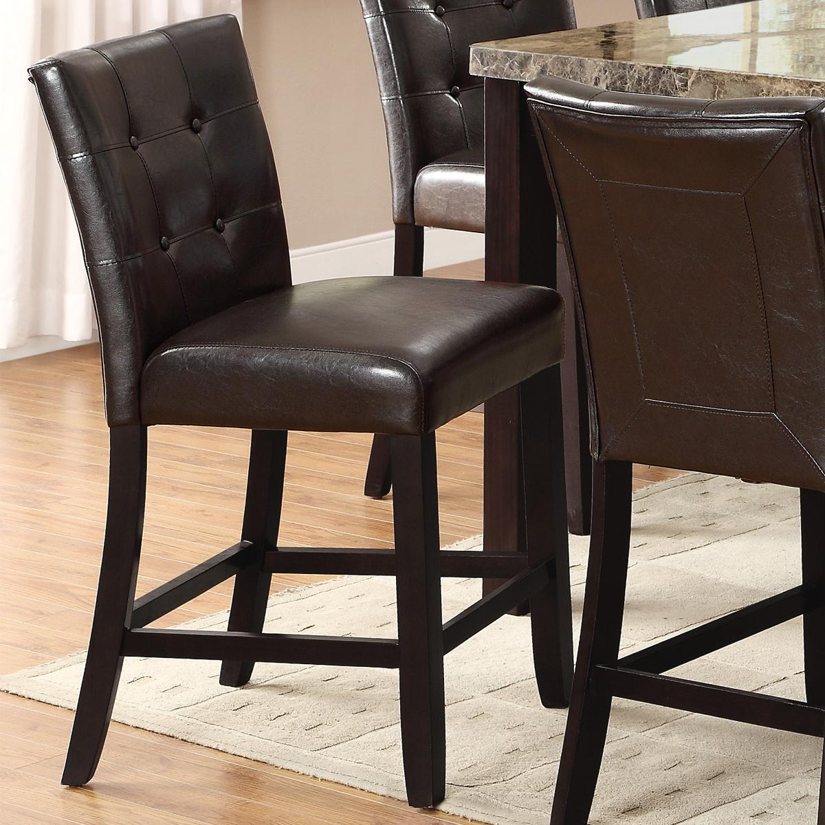 Crown Mark Bruce Upholstered Counter Height Stool With