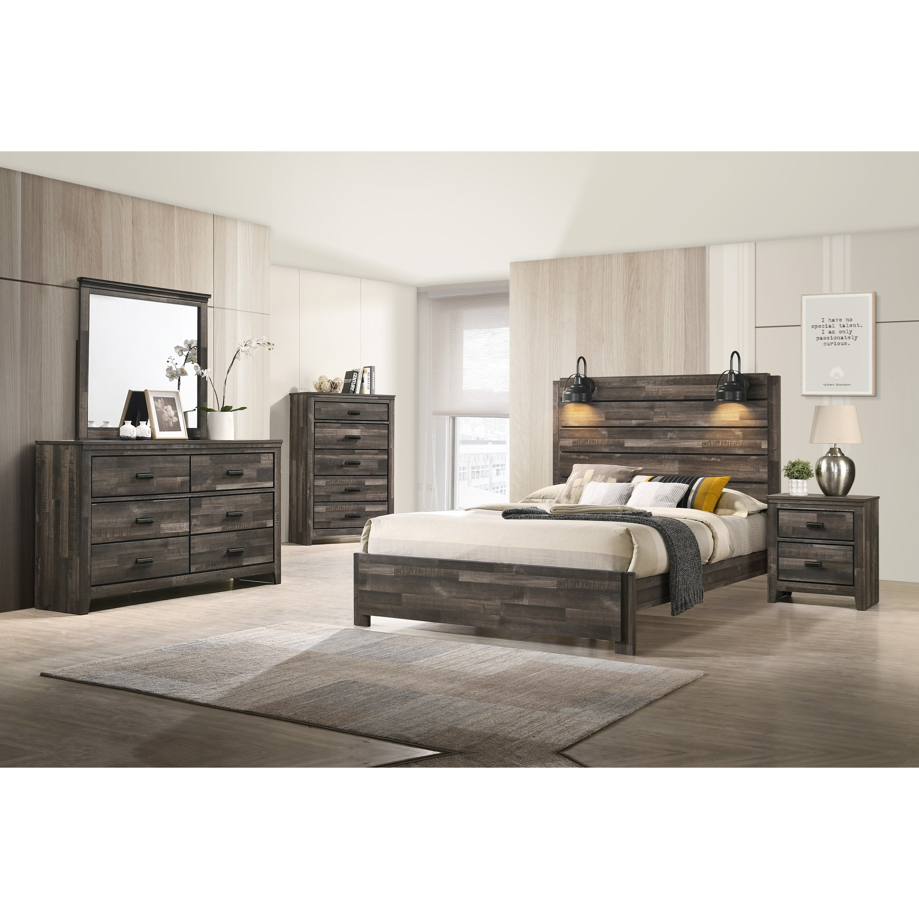 Carter Full Bedroom Group by Crown Mark at Dunk & Bright Furniture
