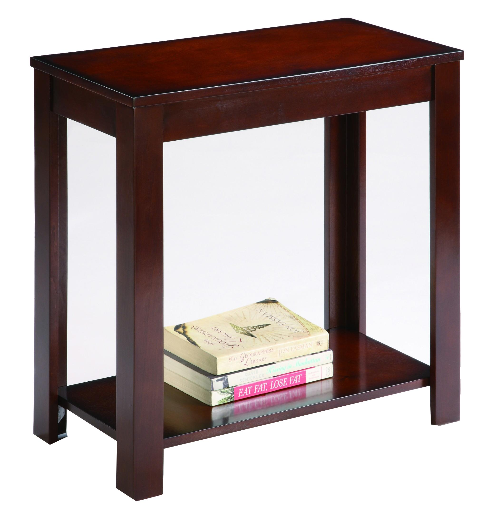 Crown mark chairside tables 7710 contemporary chairside for Bright colored side tables