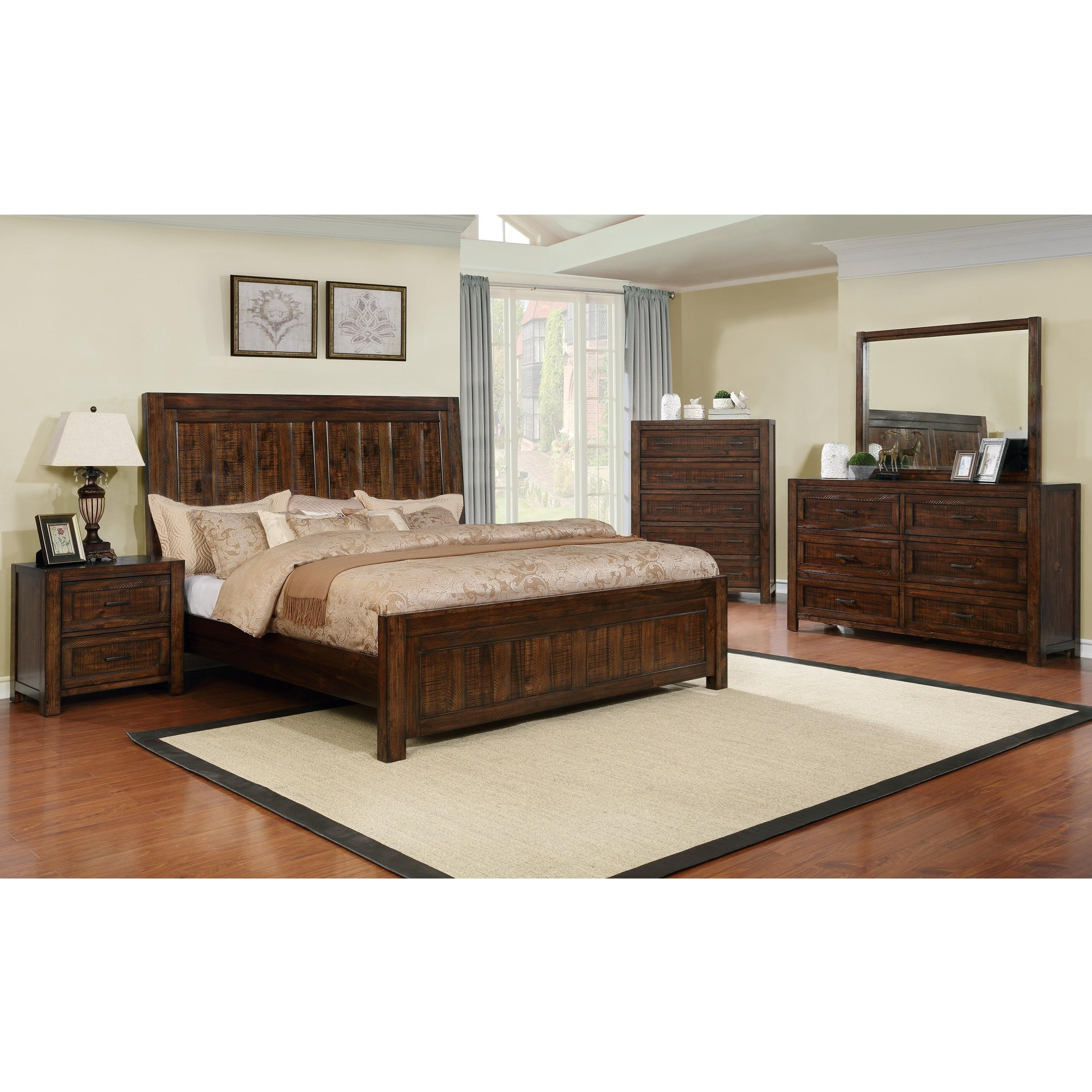 Crown mark christian king bedroom group dunk bright for Bedroom furniture groups