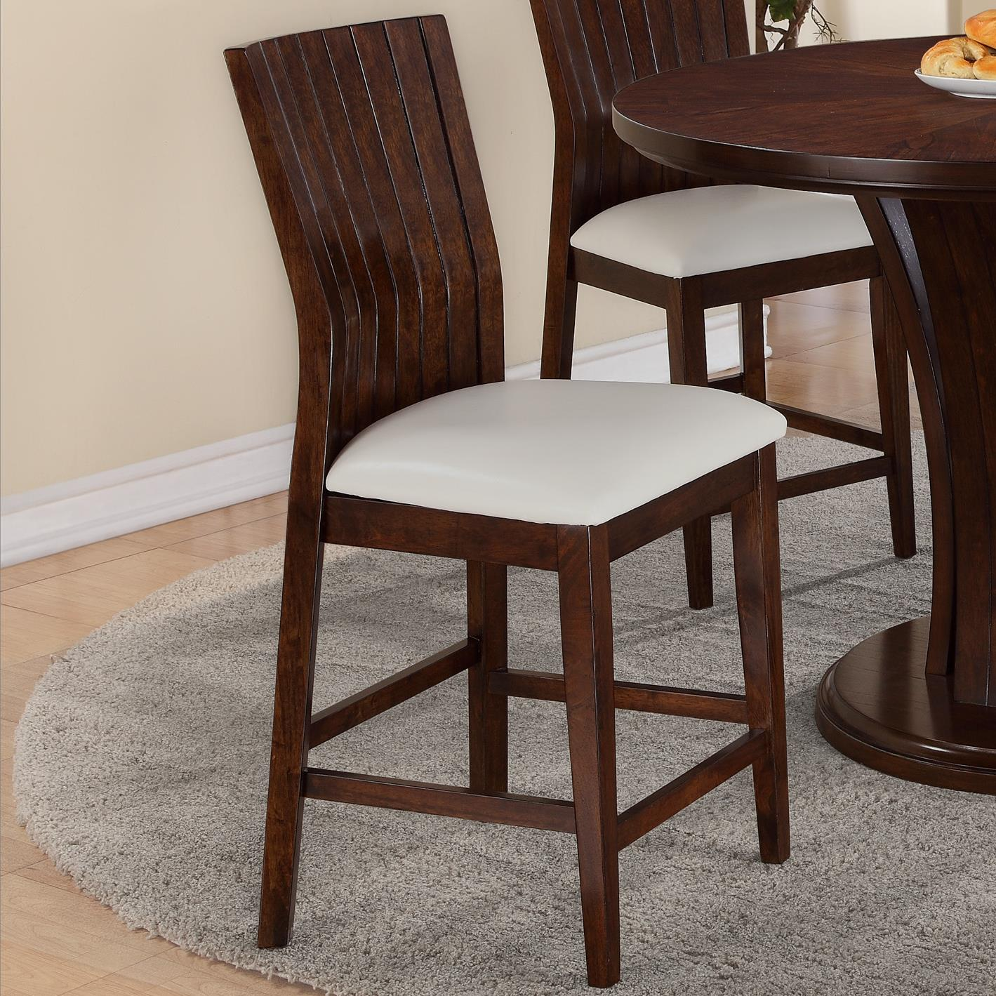 Crown mark daria 2734s 24 wh dining bar stool with for Furniture markup