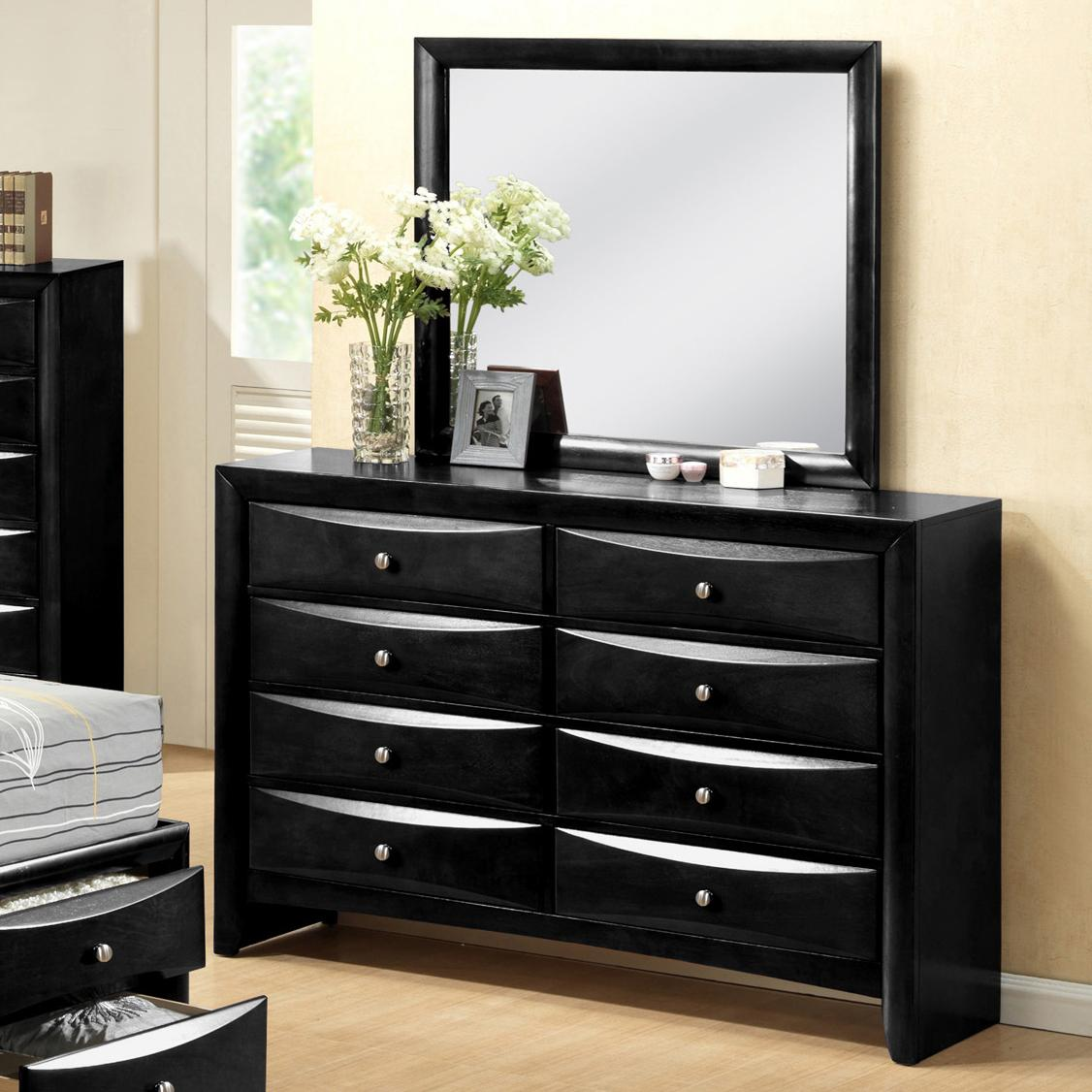 Crown mark emily contemporary 8 drawer dresser with mirror for Furniture markup