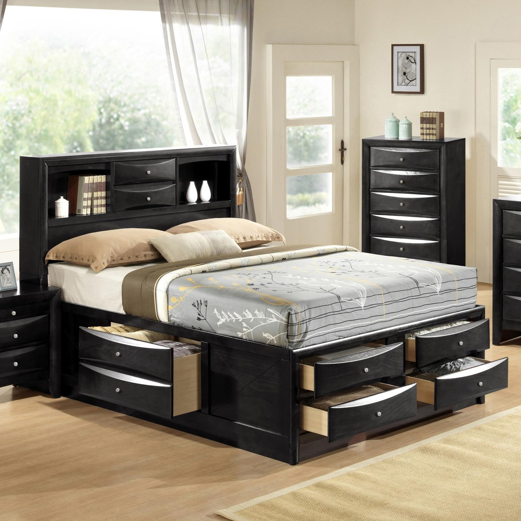 Emily King Captain's Bed by Crown Mark at Northeast Factory Direct