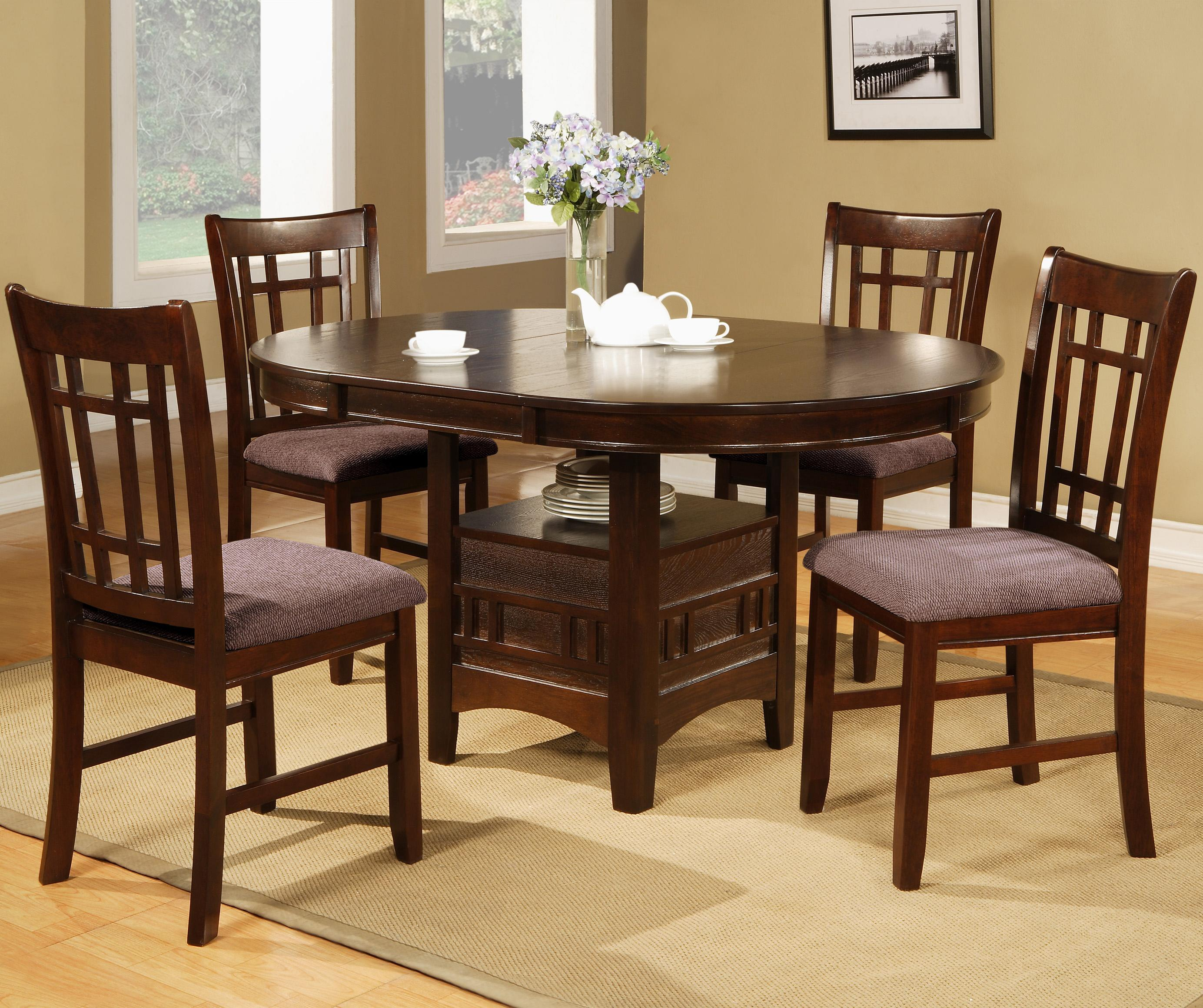 Crown mark empire 5 piece dining table with 18 leaf for Furniture markup