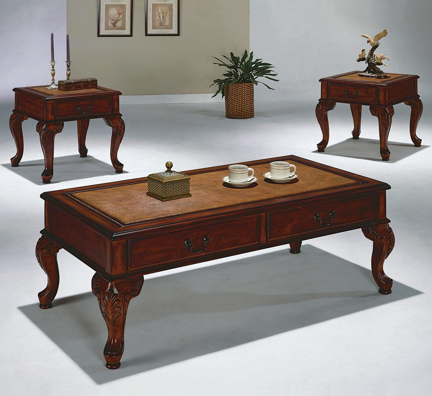 Crown Mark Explorer 3 Pack Cocktail Table and End Tables