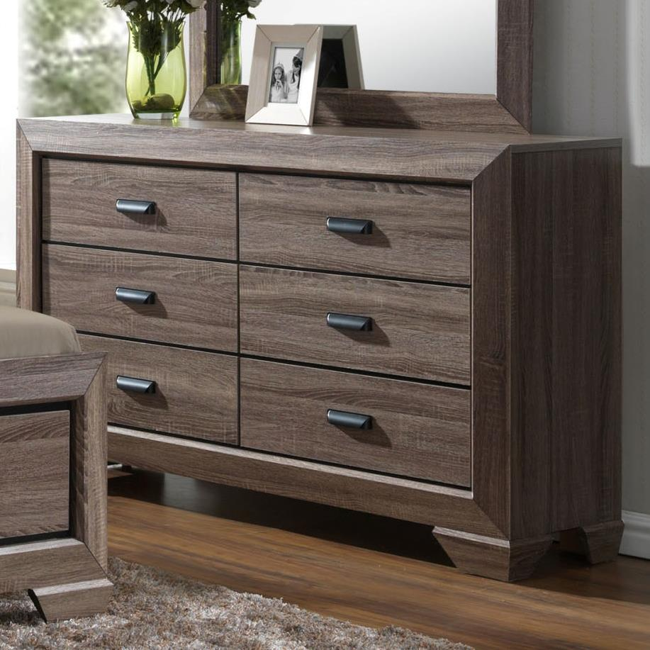 Crown mark farrow b5500 1 transitional dresser with six for Furniture markup
