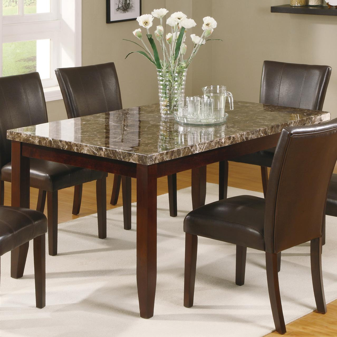 rectangular leg dining table del sol furniture dining room table