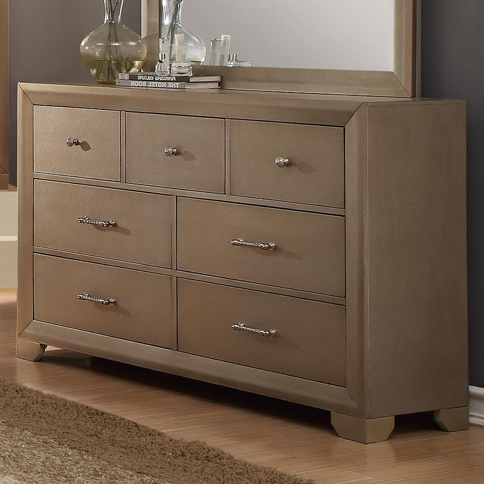 Crown mark fontaine b1700 1 seven drawer dresser with for Furniture markup