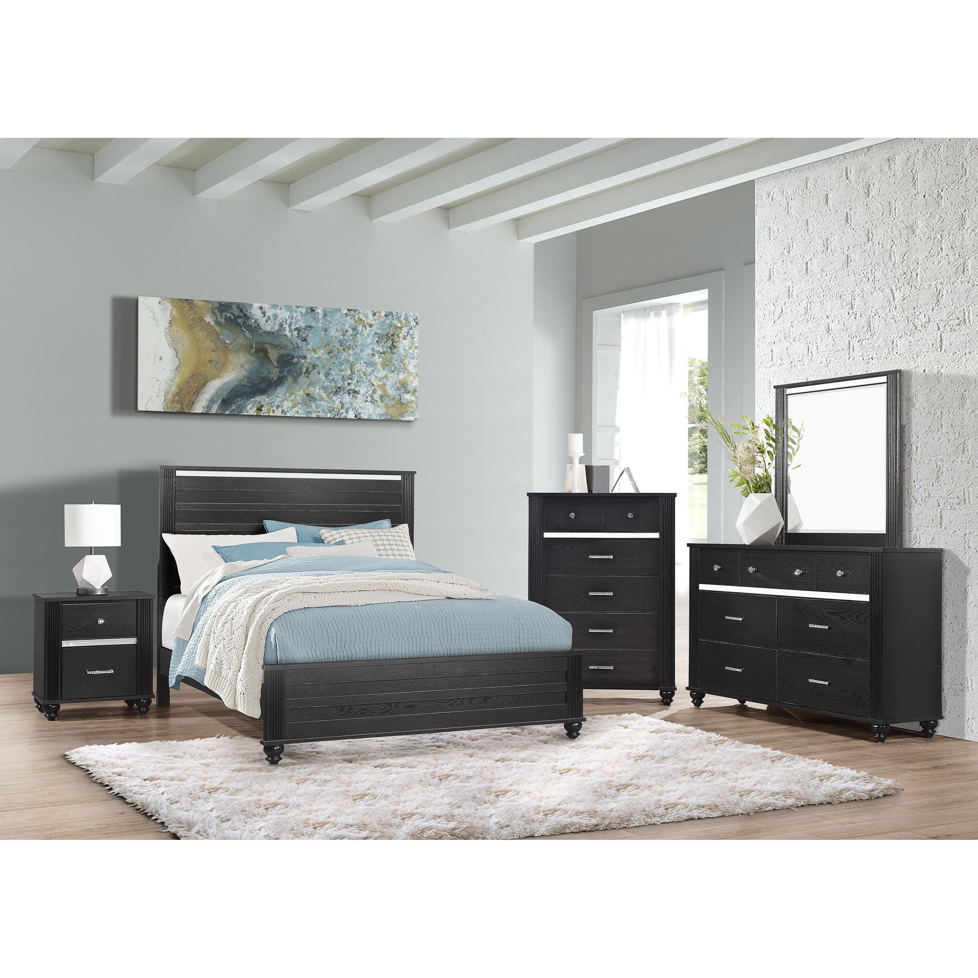 Gaston Queen Bedroom Group by Crown Mark at Pedigo Furniture