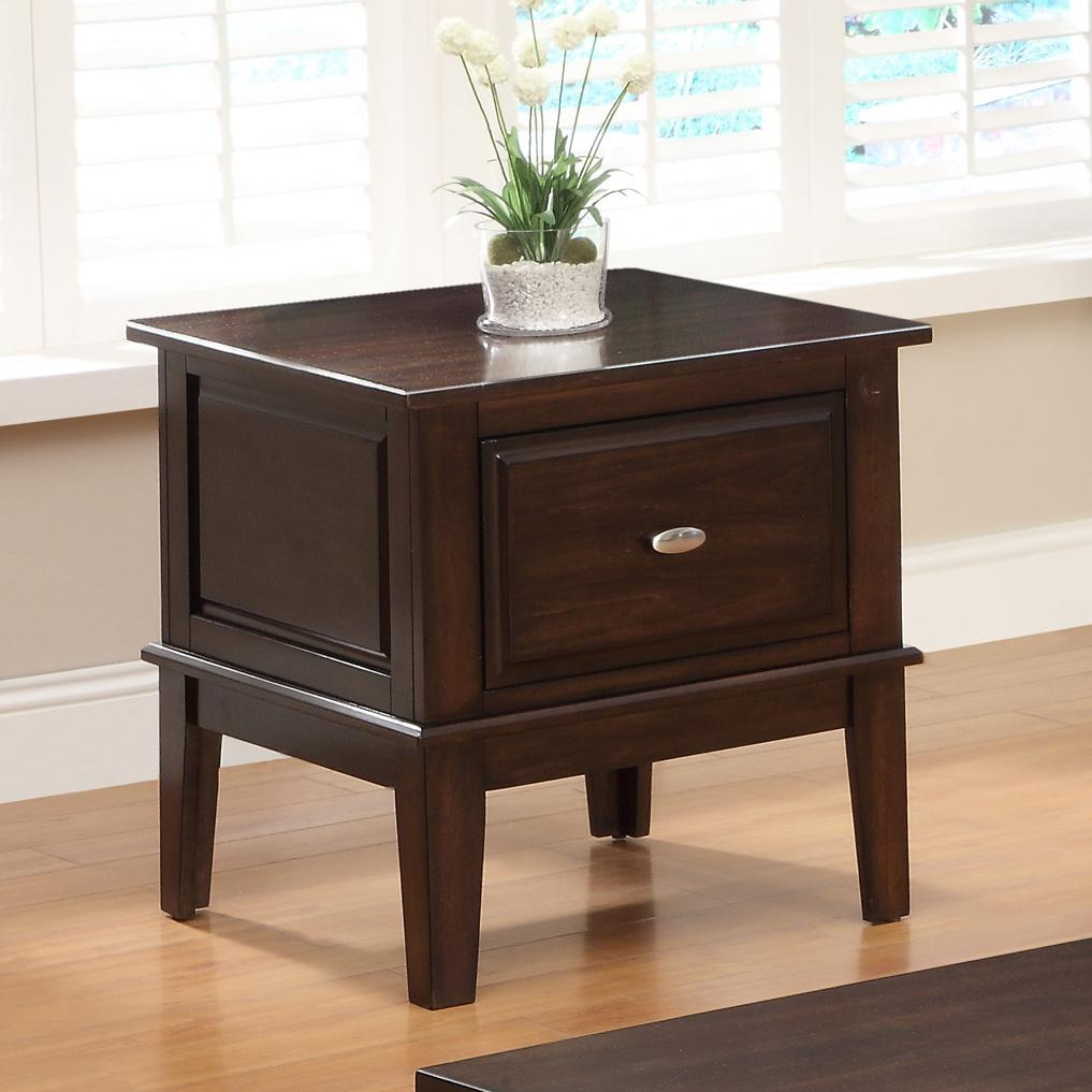 Crown mark harmon 4111 02 square end table with one drawer for Furniture markup