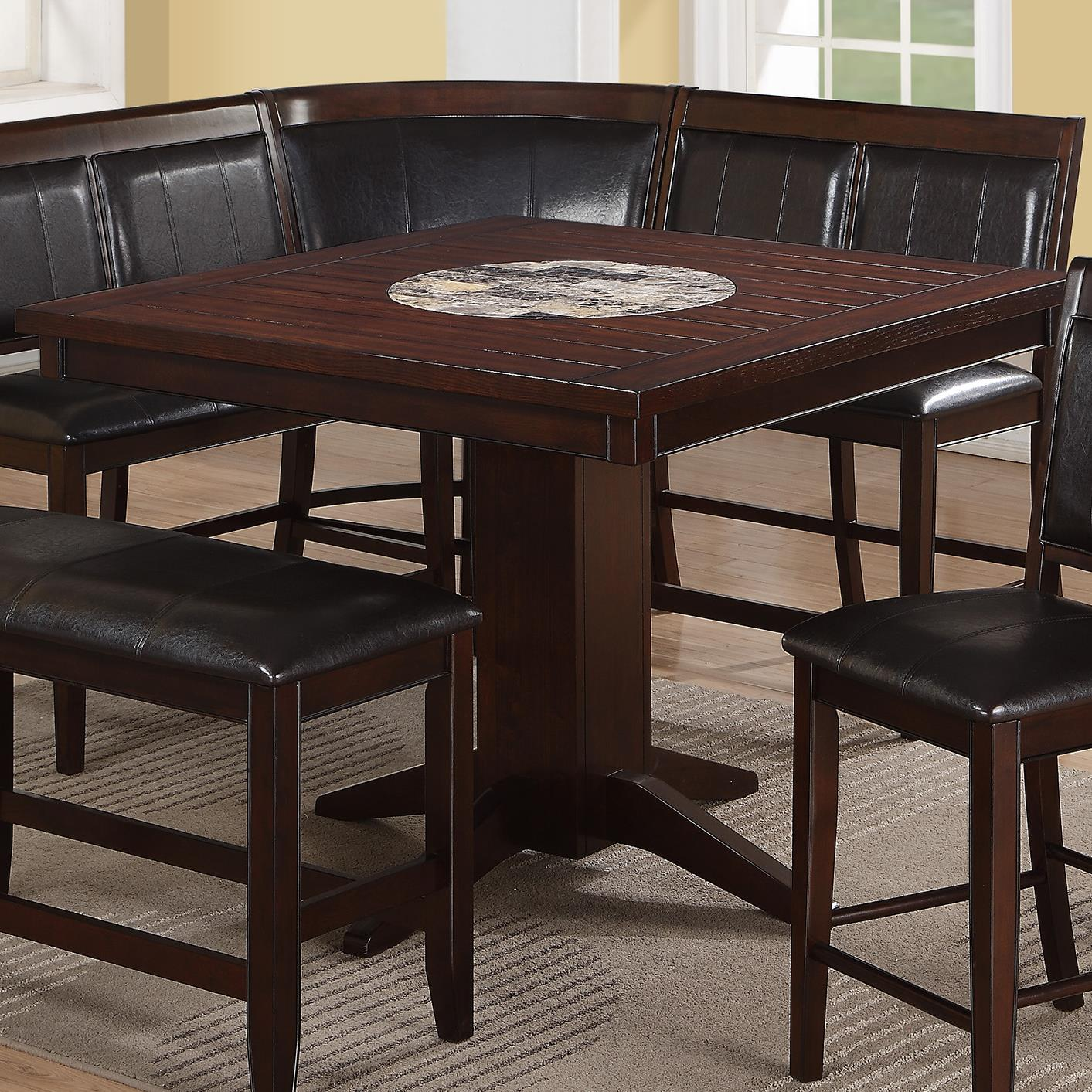 Crown mark harrison counter height table with 22 lazy for Markup table