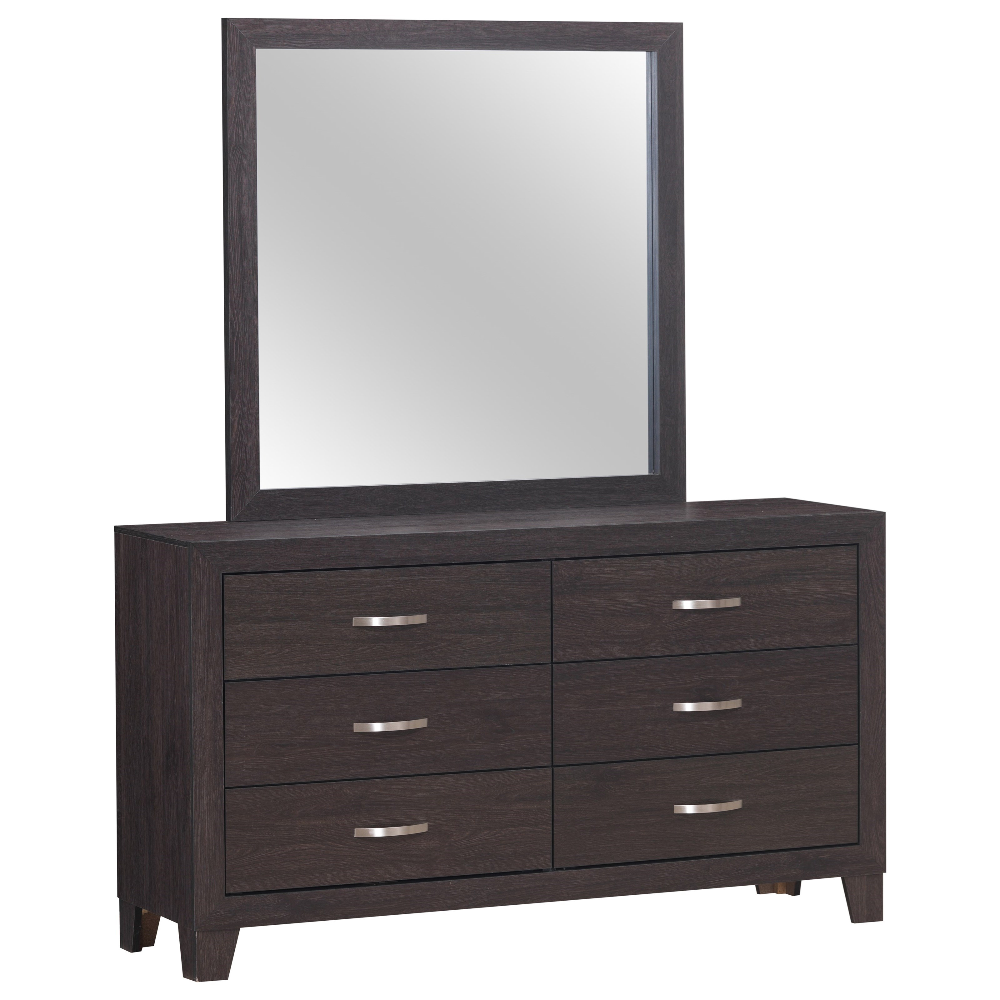 Hopkins Dresser and Mirror by Crown Mark at Catalog Outlet