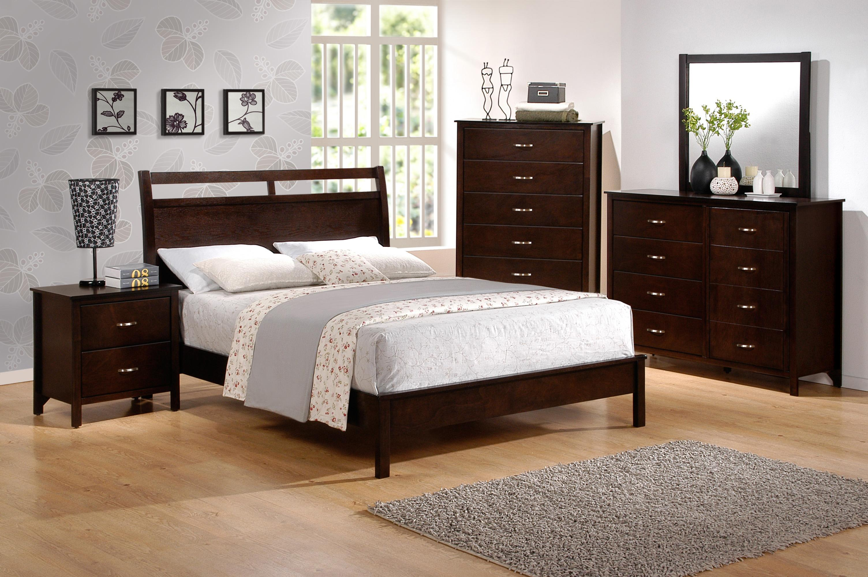 crown mark ian california king low profile bed with cutout headboard dunk bright furniture. Black Bedroom Furniture Sets. Home Design Ideas