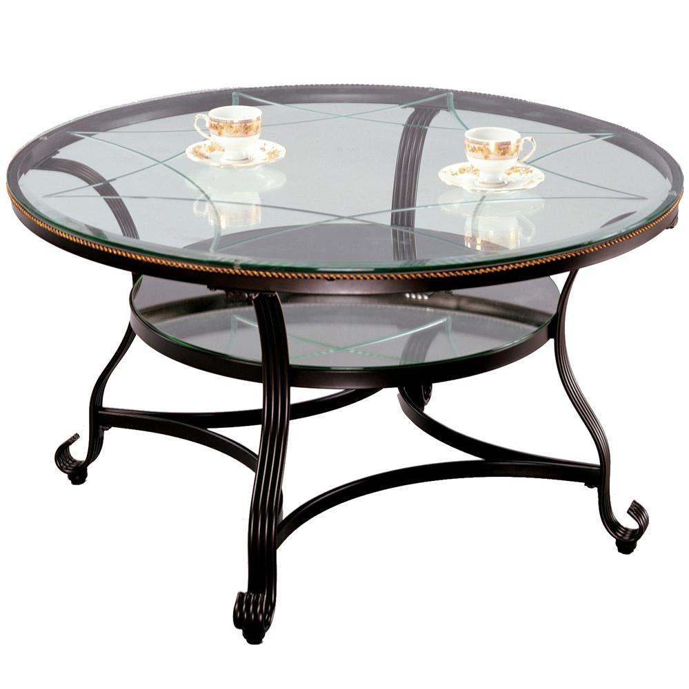 Crown mark jessica 3843 01 cocktail table with glass top for Markup table