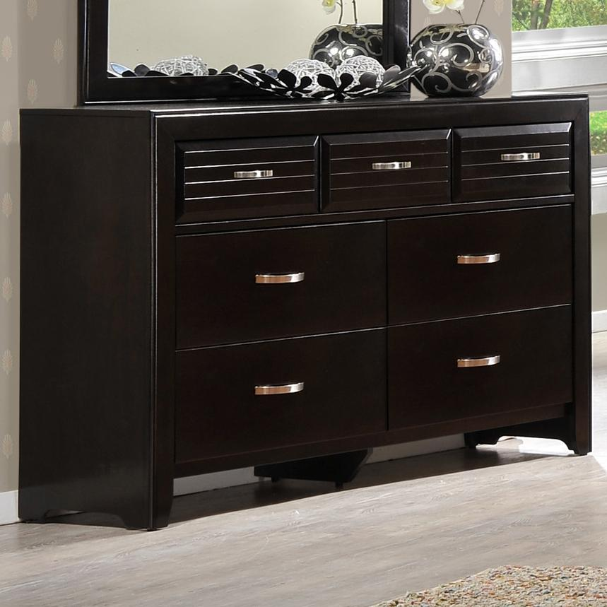Crown mark jocelyn b7400 1 rectangular dresser with 7 for Furniture markup