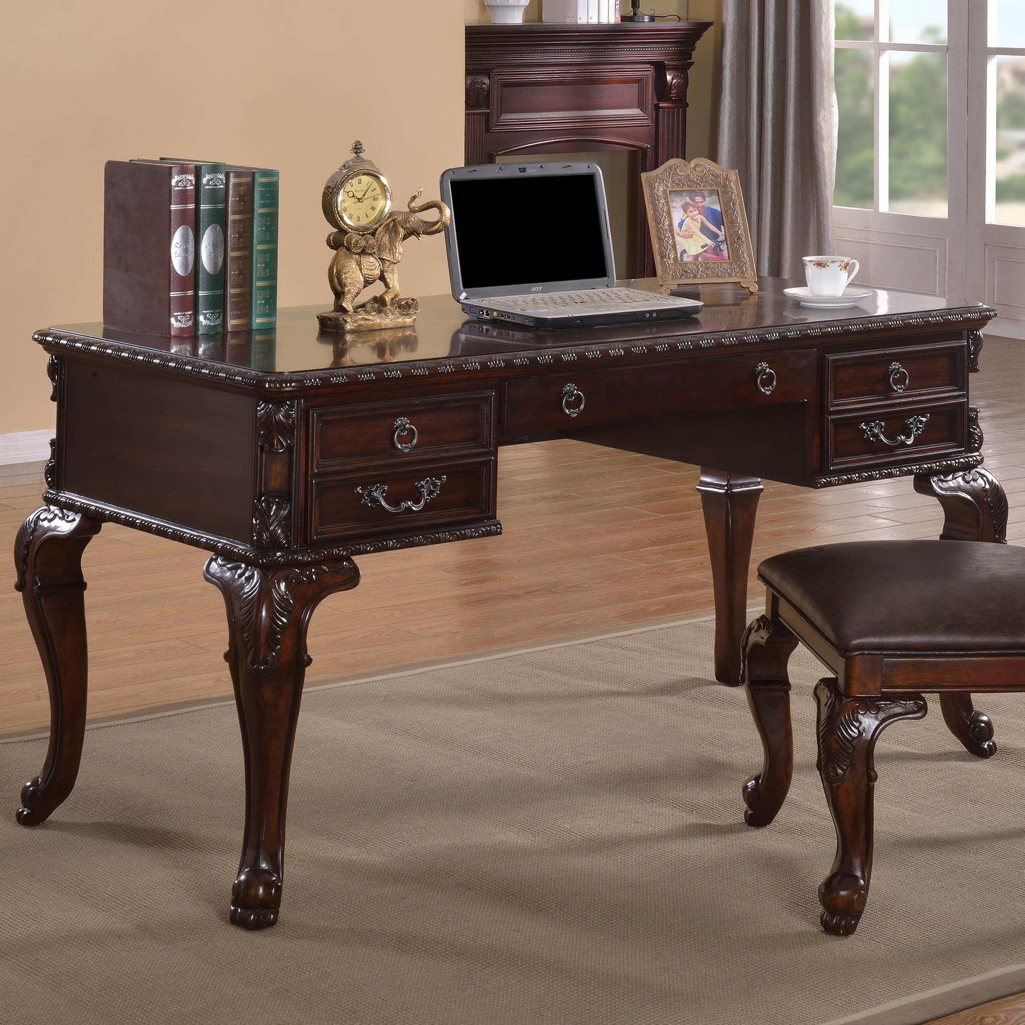 Crown mark kiera 5150 classical home office desk del sol for Furniture markup