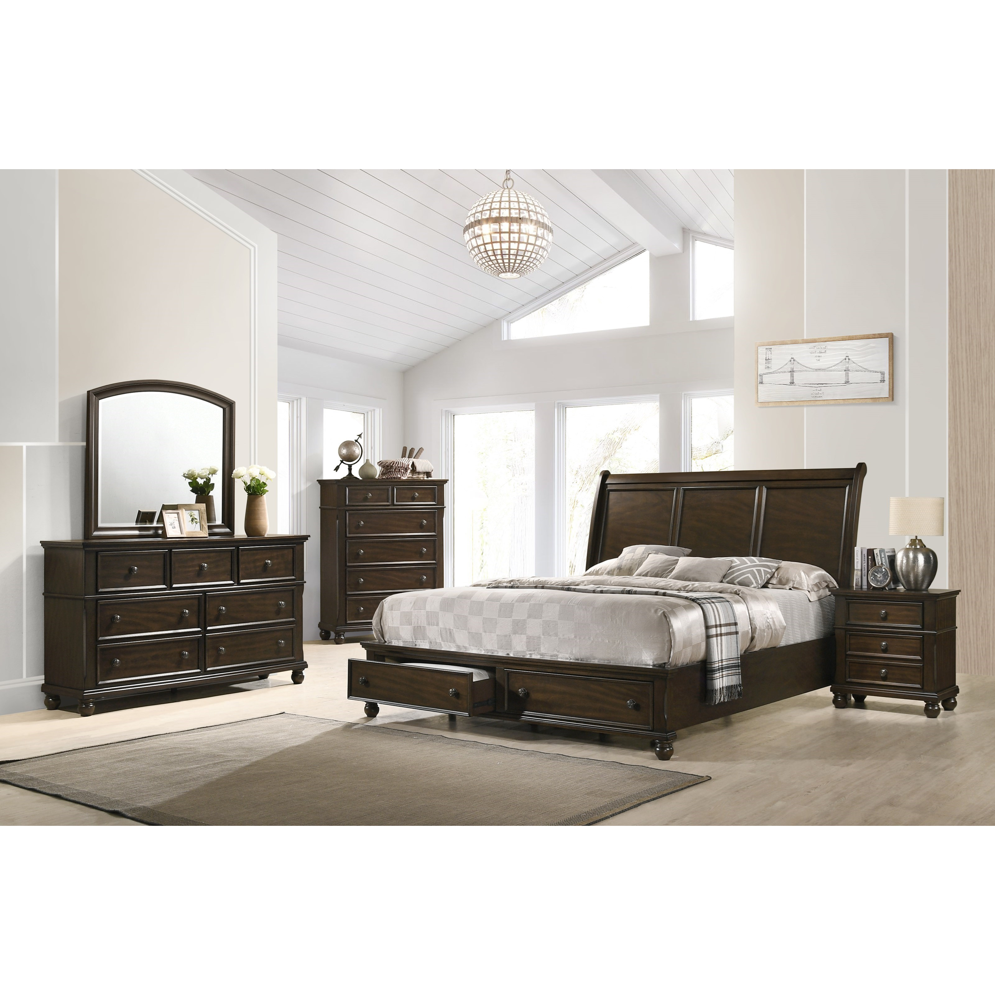 Lara King Bedroom Group by Crown Mark at Northeast Factory Direct