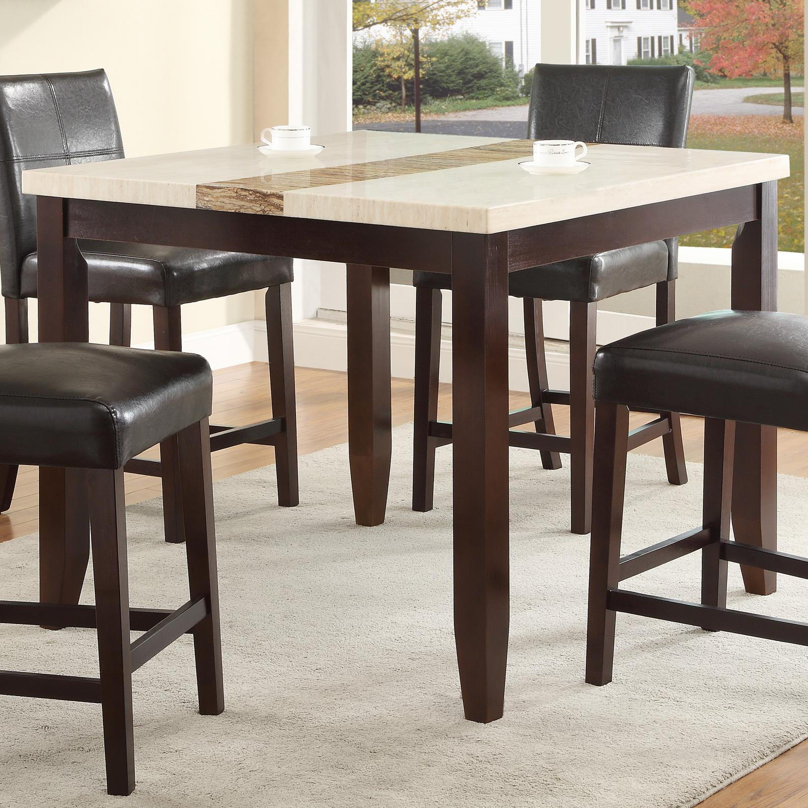 Crown mark larissa 2722t 4242 square counter height dining for Markup table