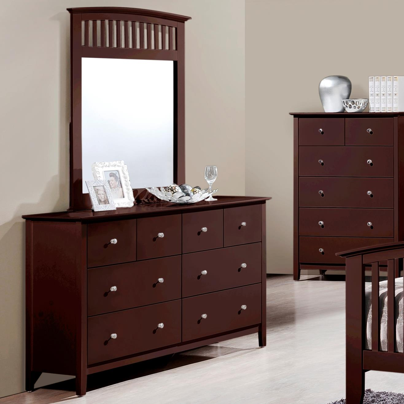 Crown mark lawson dresser and mirror set dunk bright for Furniture markup