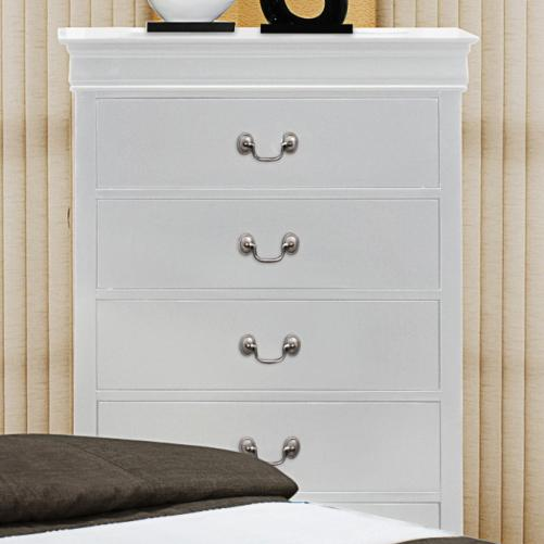 Crown mark louis phillipe tall chest of drawers with for Bedroom bureau knobs