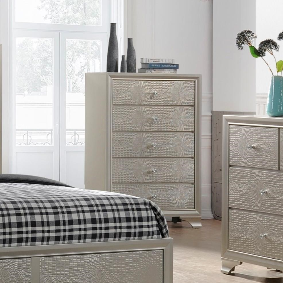 Lyssa Drawer Chest by Crown Mark at Northeast Factory Direct