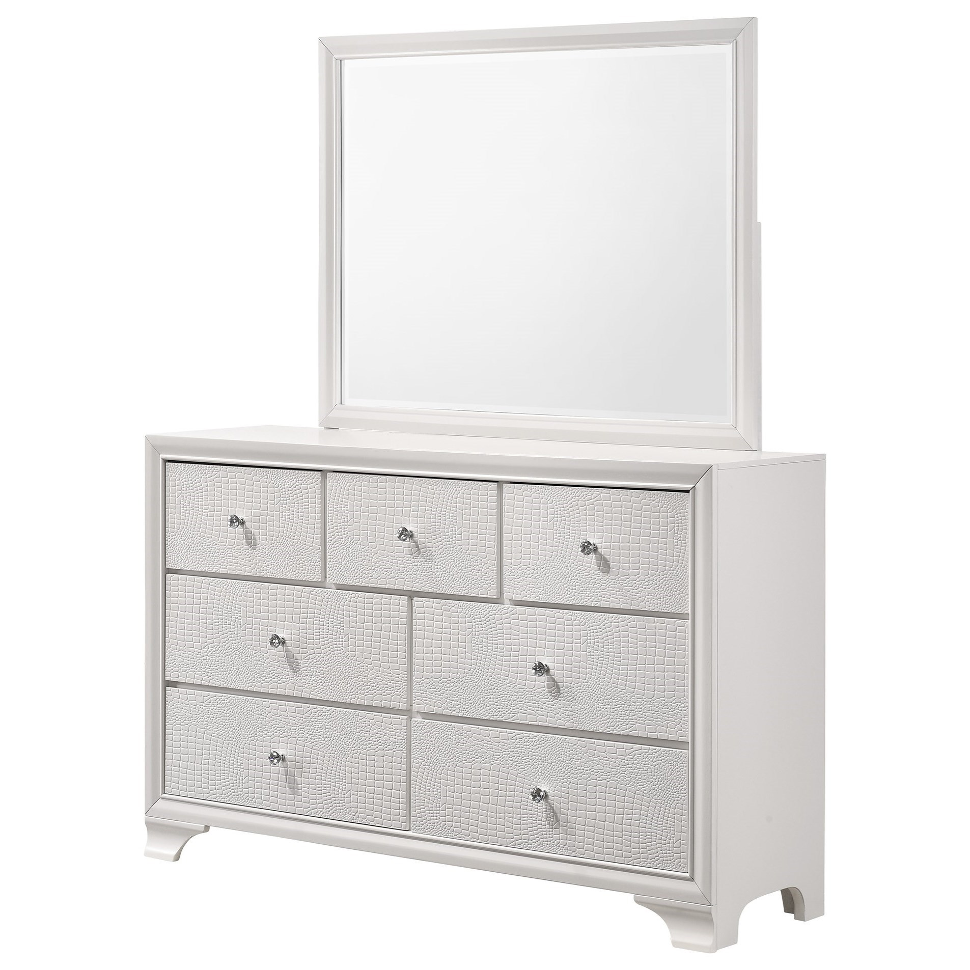 Lyssa Dresser and Mirror Set by Crown Mark at Northeast Factory Direct