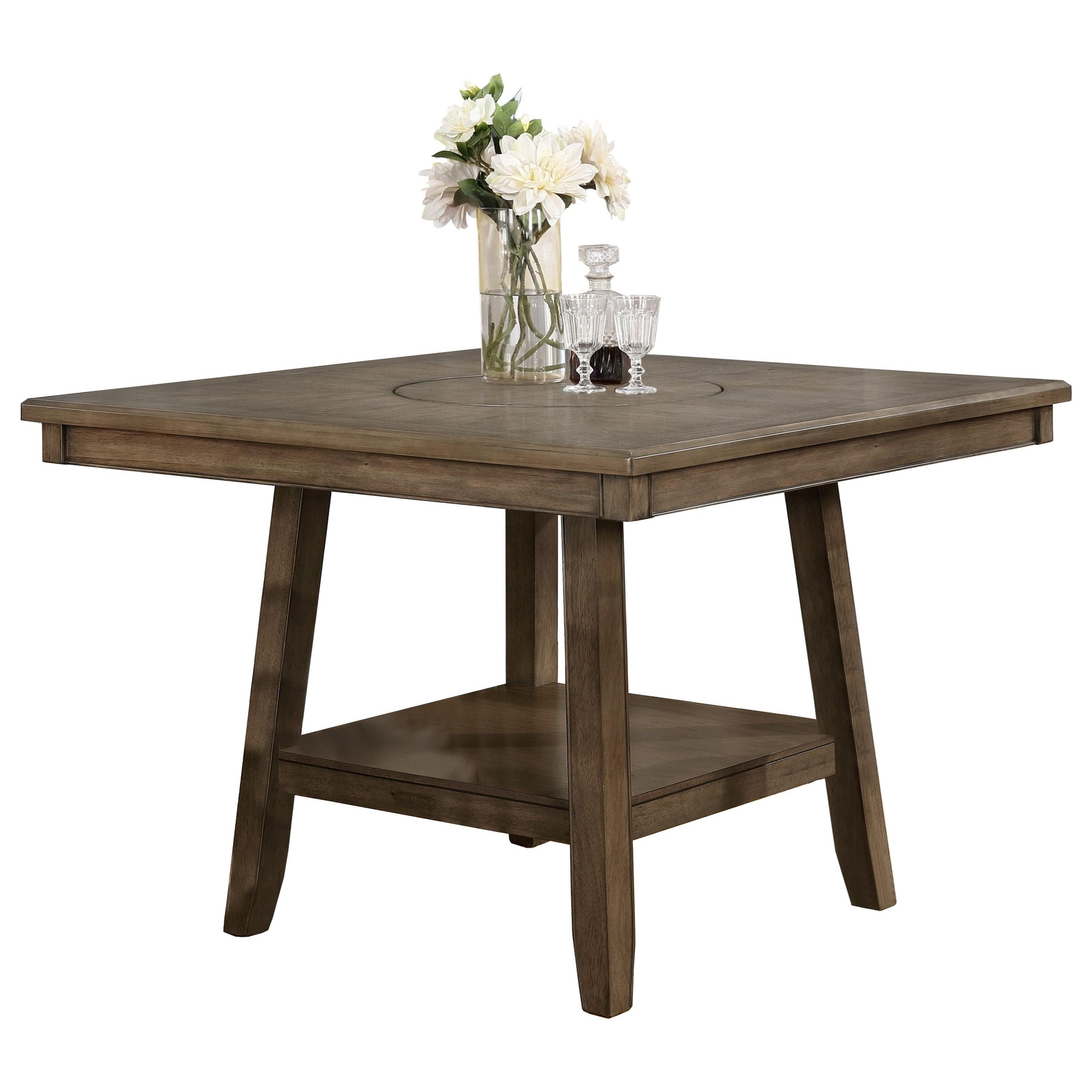 Crown mark manning 2731t 4848 casual counter height table for Markup table