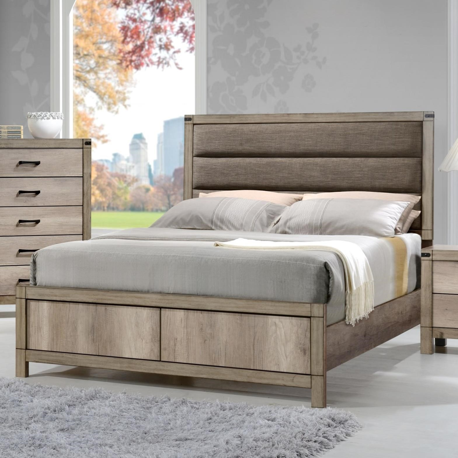 crown mark matteo king upholstered low profile bed royal furniture platform beds low profile. Black Bedroom Furniture Sets. Home Design Ideas