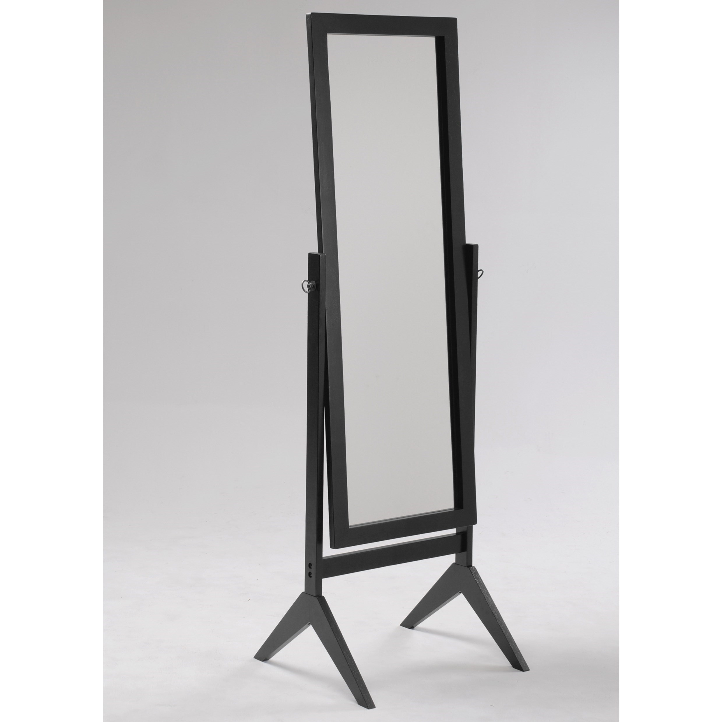 Miscellaneous Espresso Cheval Mirror by Crown Mark at Catalog Outlet