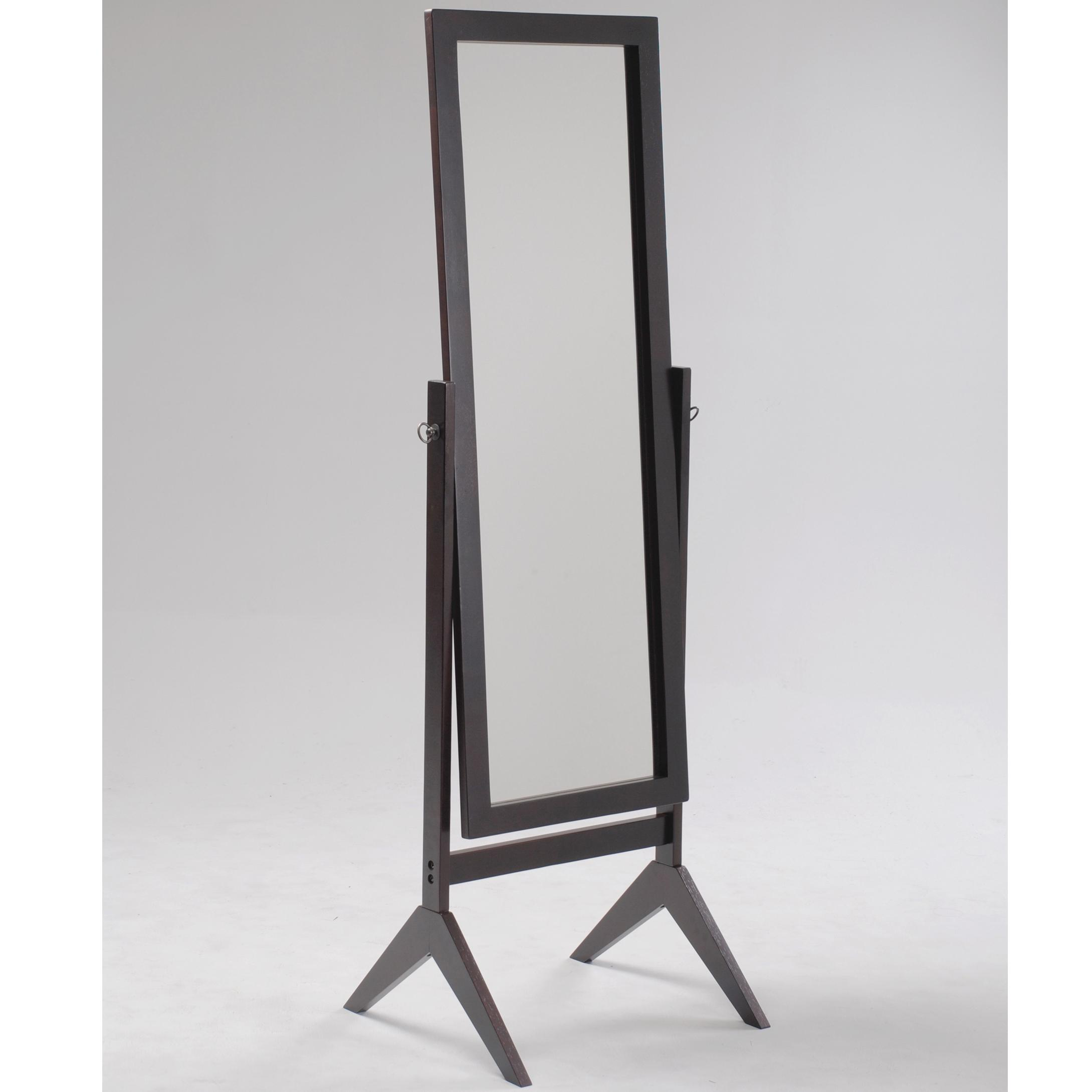 Miscellaneous Espresso Cheval Mirror by Crown Mark at Northeast Factory Direct