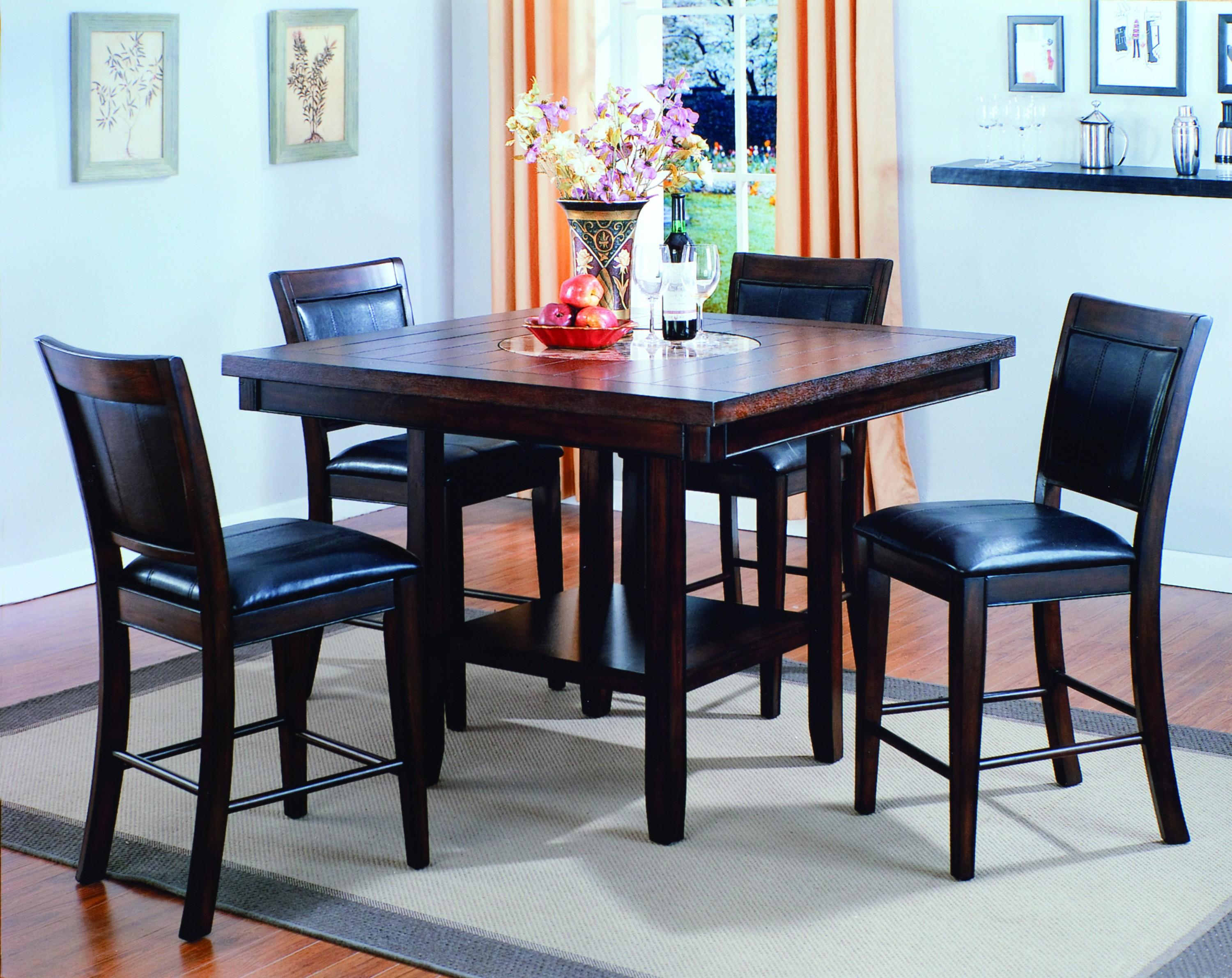 Crown mark fulton 5 piece counter height table and chair for Dining room tables jacksonville nc