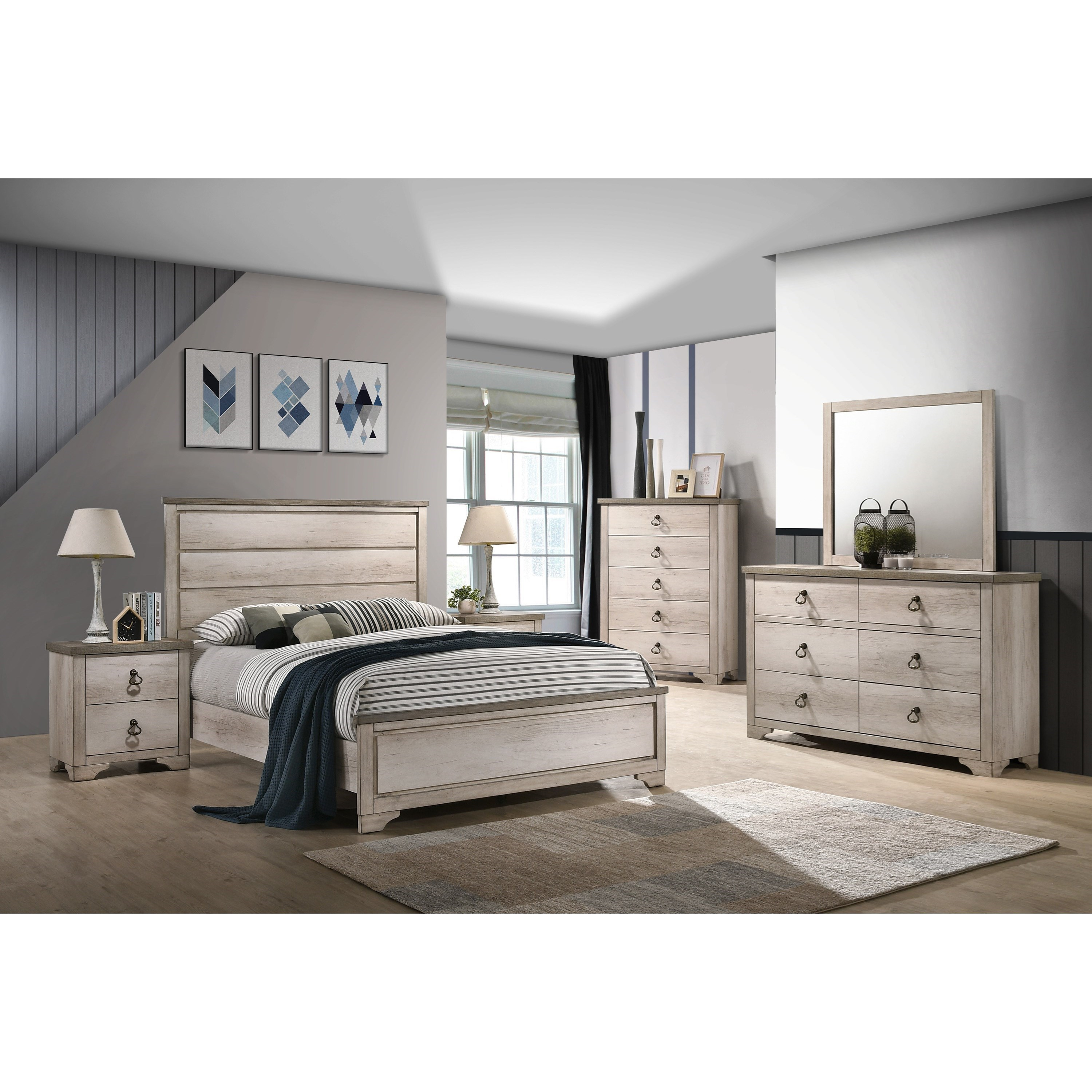 Patterson King Bedroom Group by CM at Del Sol Furniture