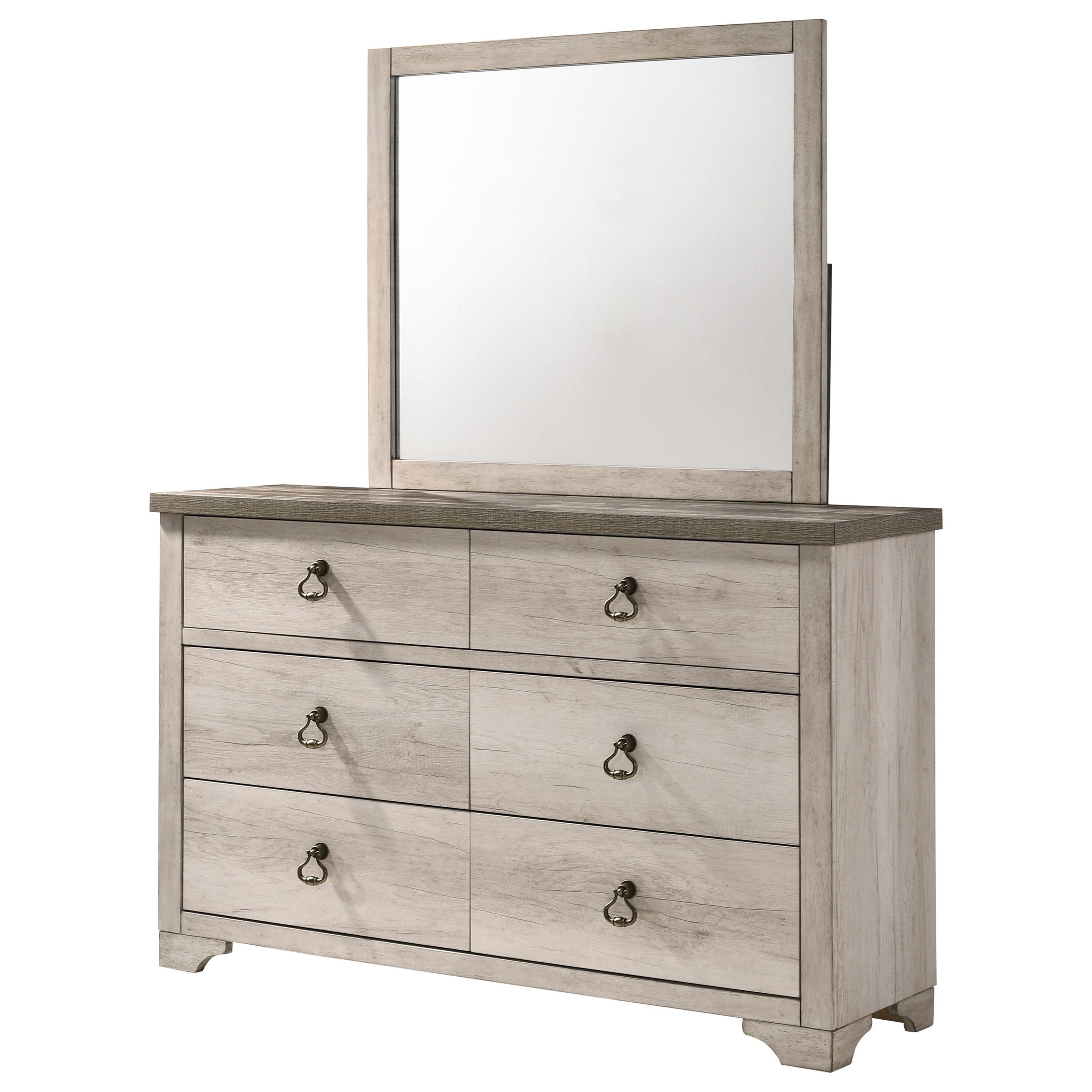 Patterson Dresser + Mirror Set by Crown Mark at A1 Furniture & Mattress