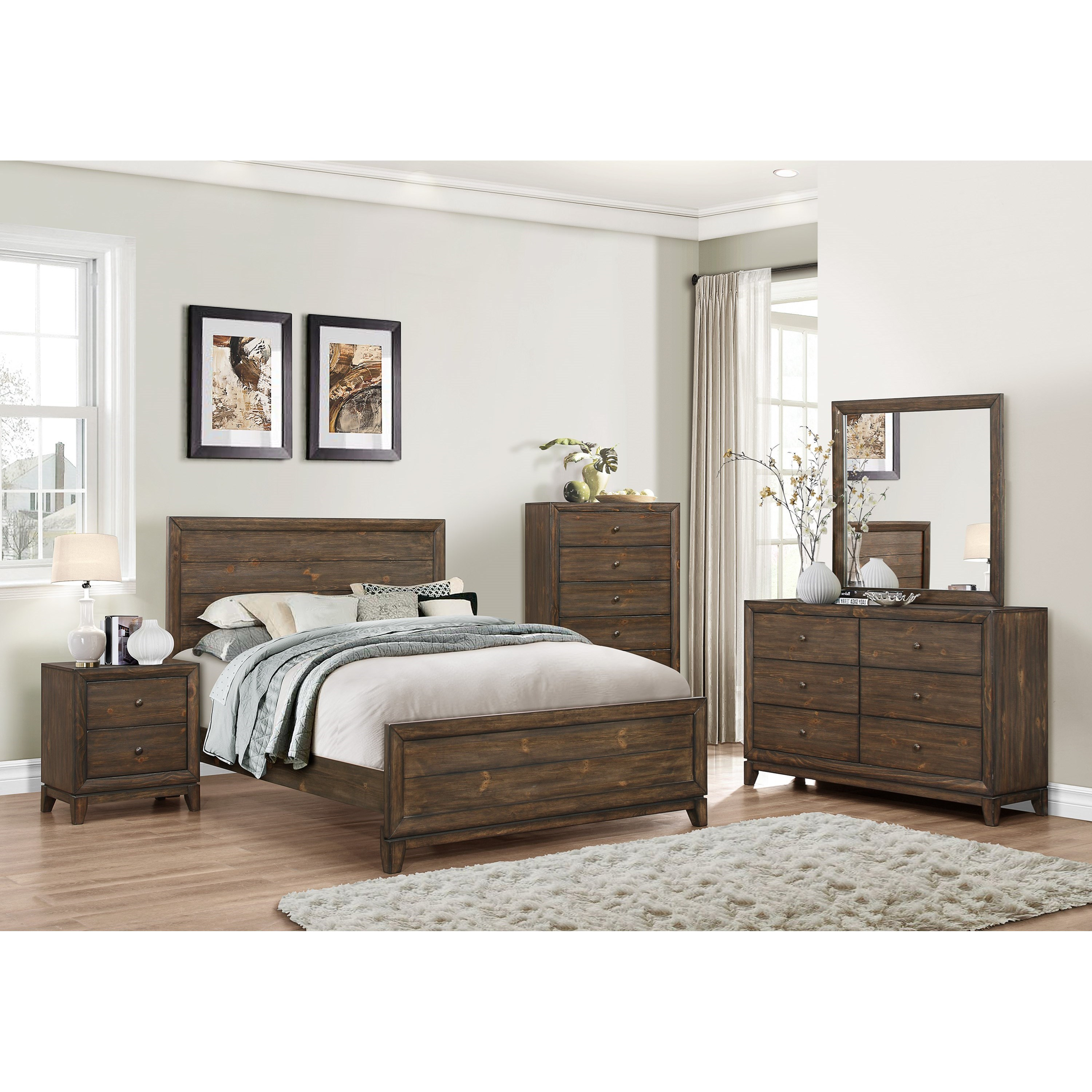 Crown mark rhone king bedroom group dunk bright for Bedroom furniture groups
