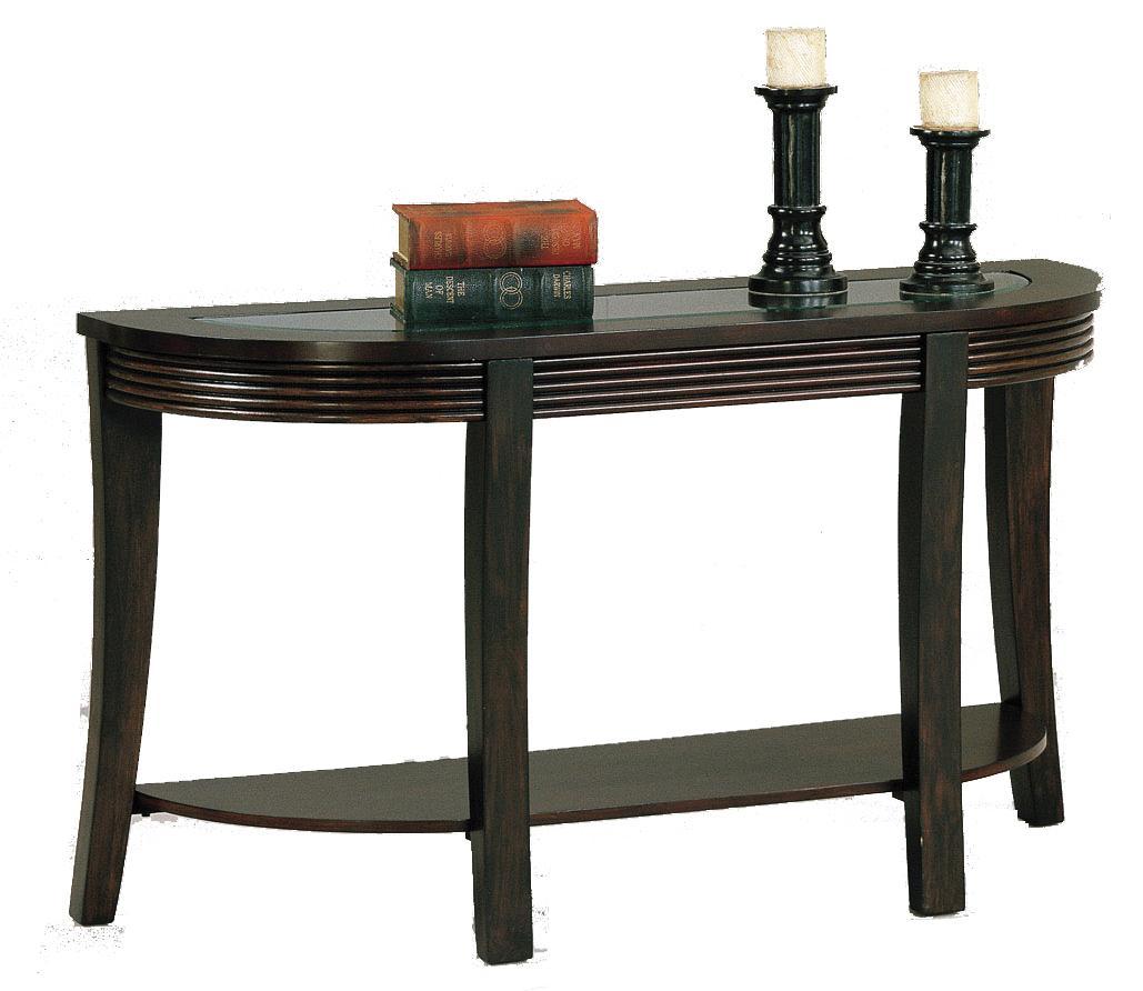 Crown mark simone glass top sofa table royal furniture for Markup table