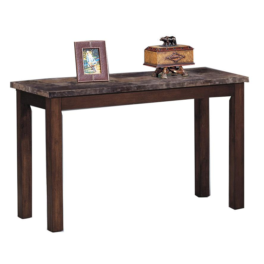 Crown mark thurner 4166 05 sofa table with faux marble top for Markup table